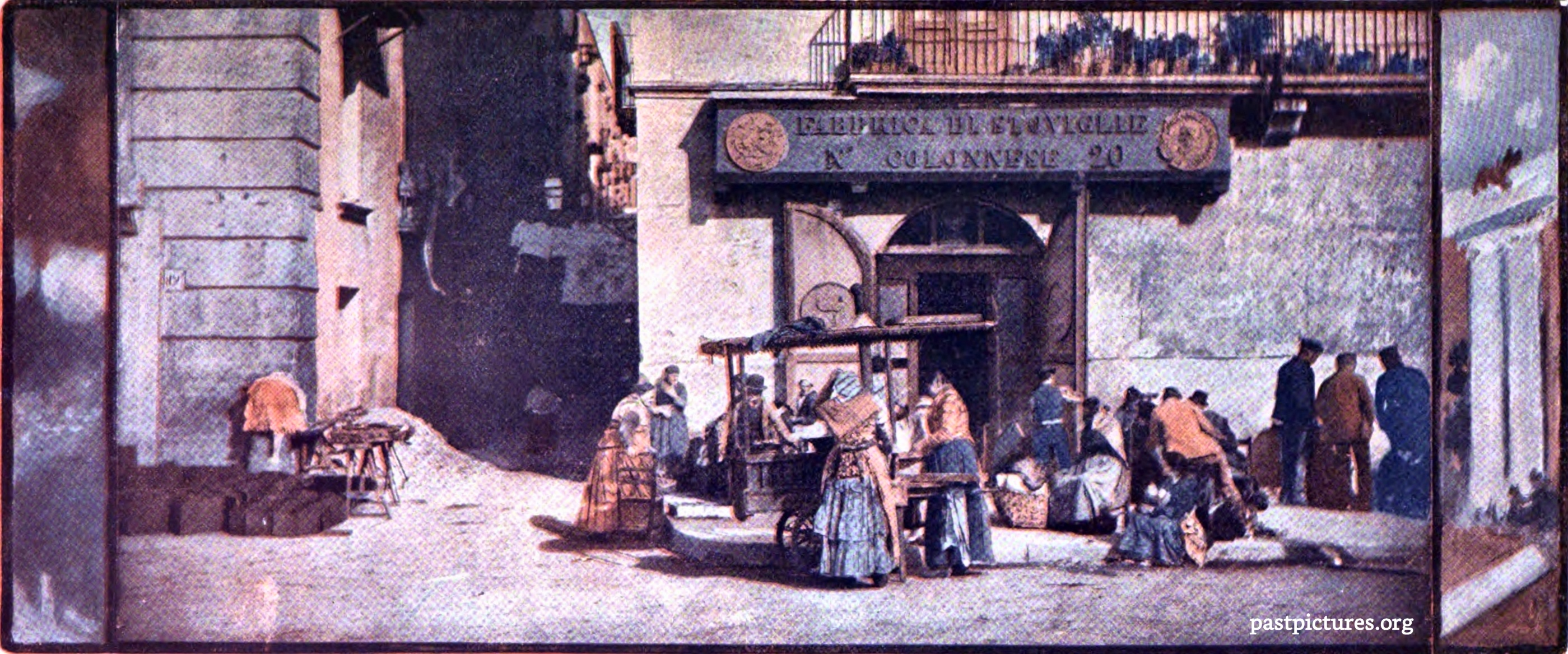 A Street Scene in Naples (Italy) about 1905