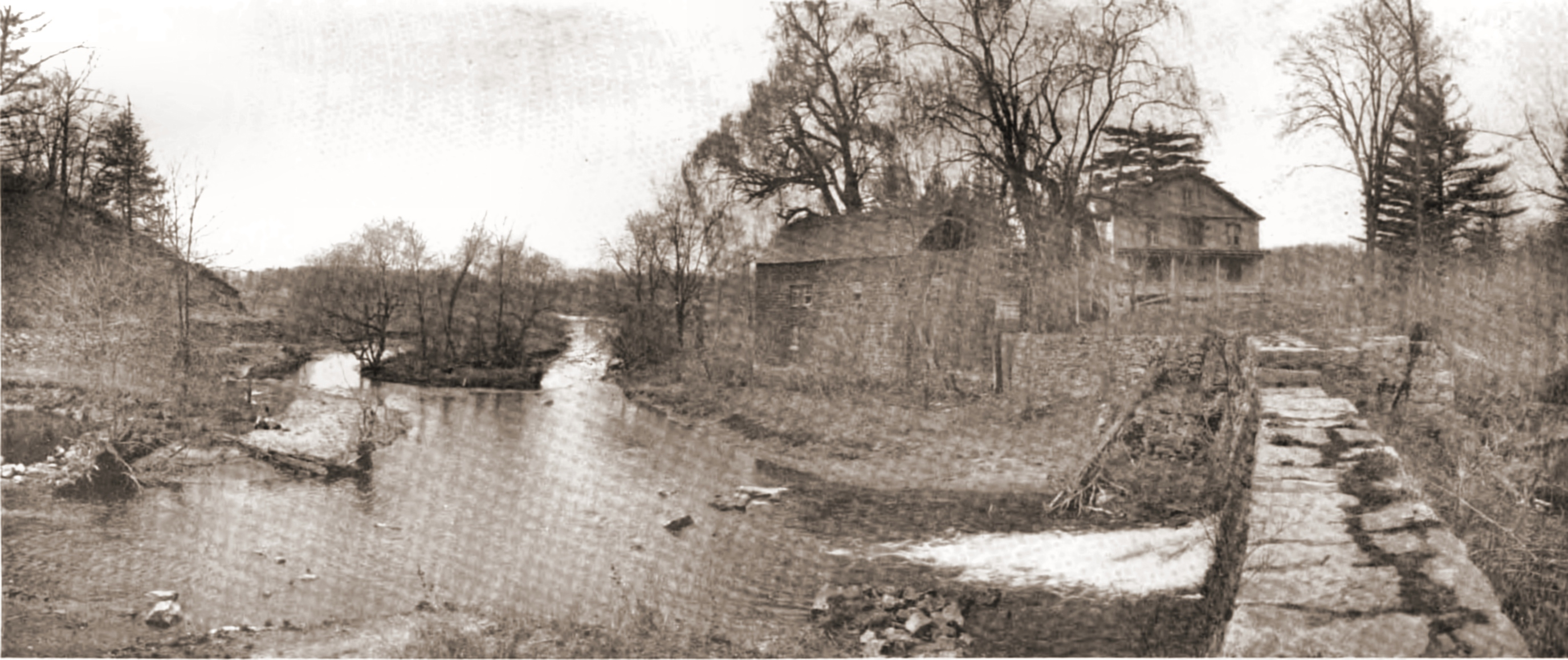 The Philipse Mill and the Old Dutch Church in Sleepy Hollow 1903