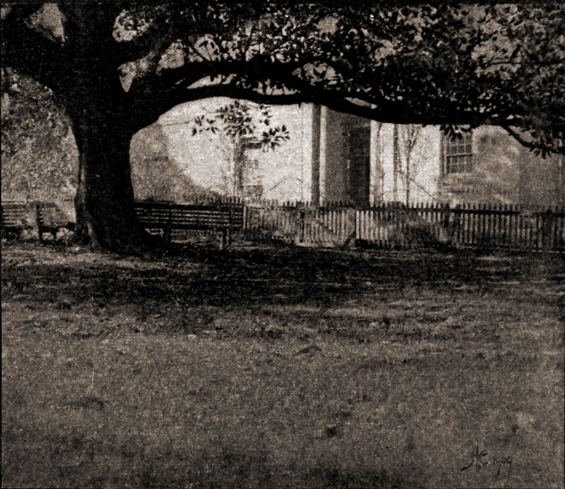 Sunlight and Shadow photographed by Harold Cazneaux 1909