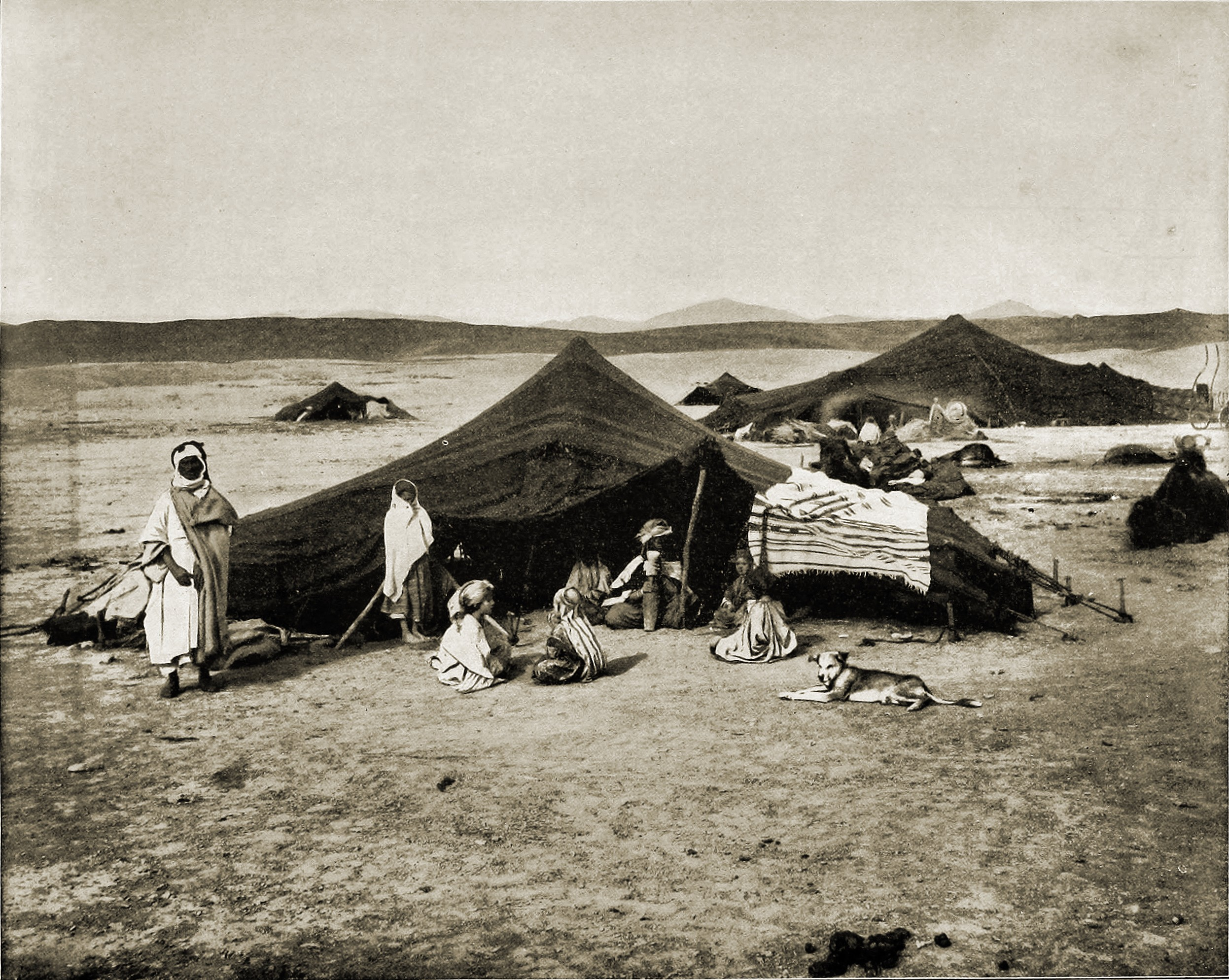 Bedouins on the Sahara Desert about 1892