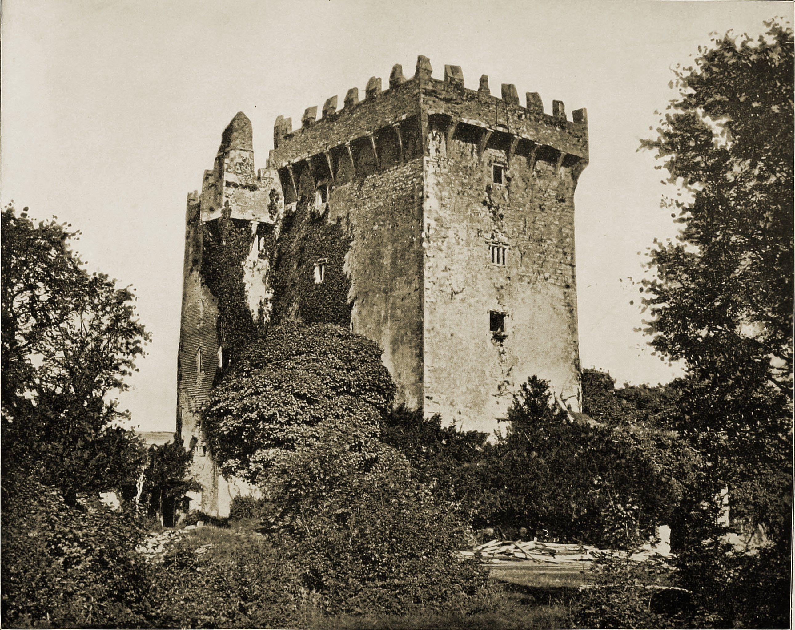 Blarney Castle Ireland about 1892