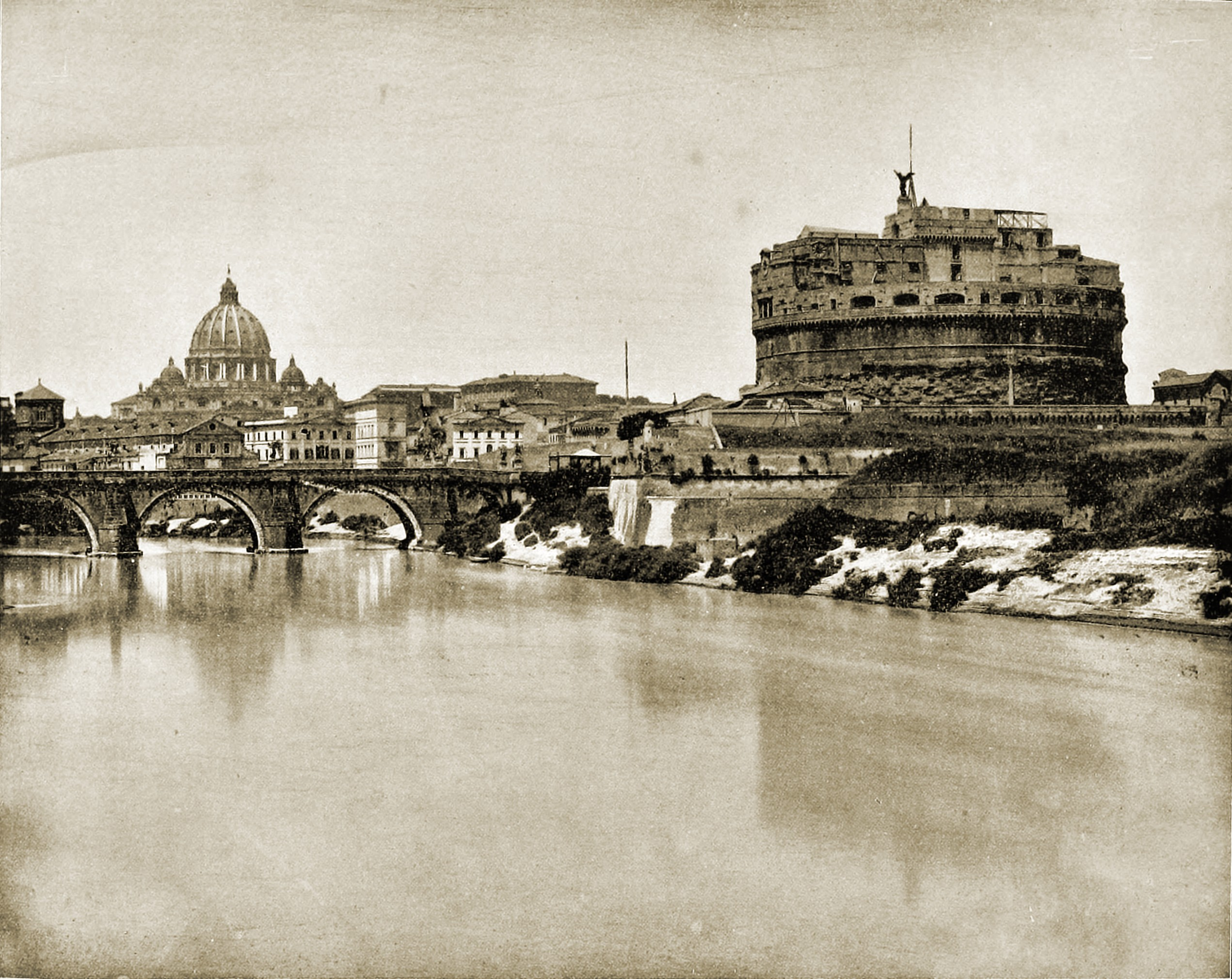 Castel Sant'Angelo Rome Italy about 1892