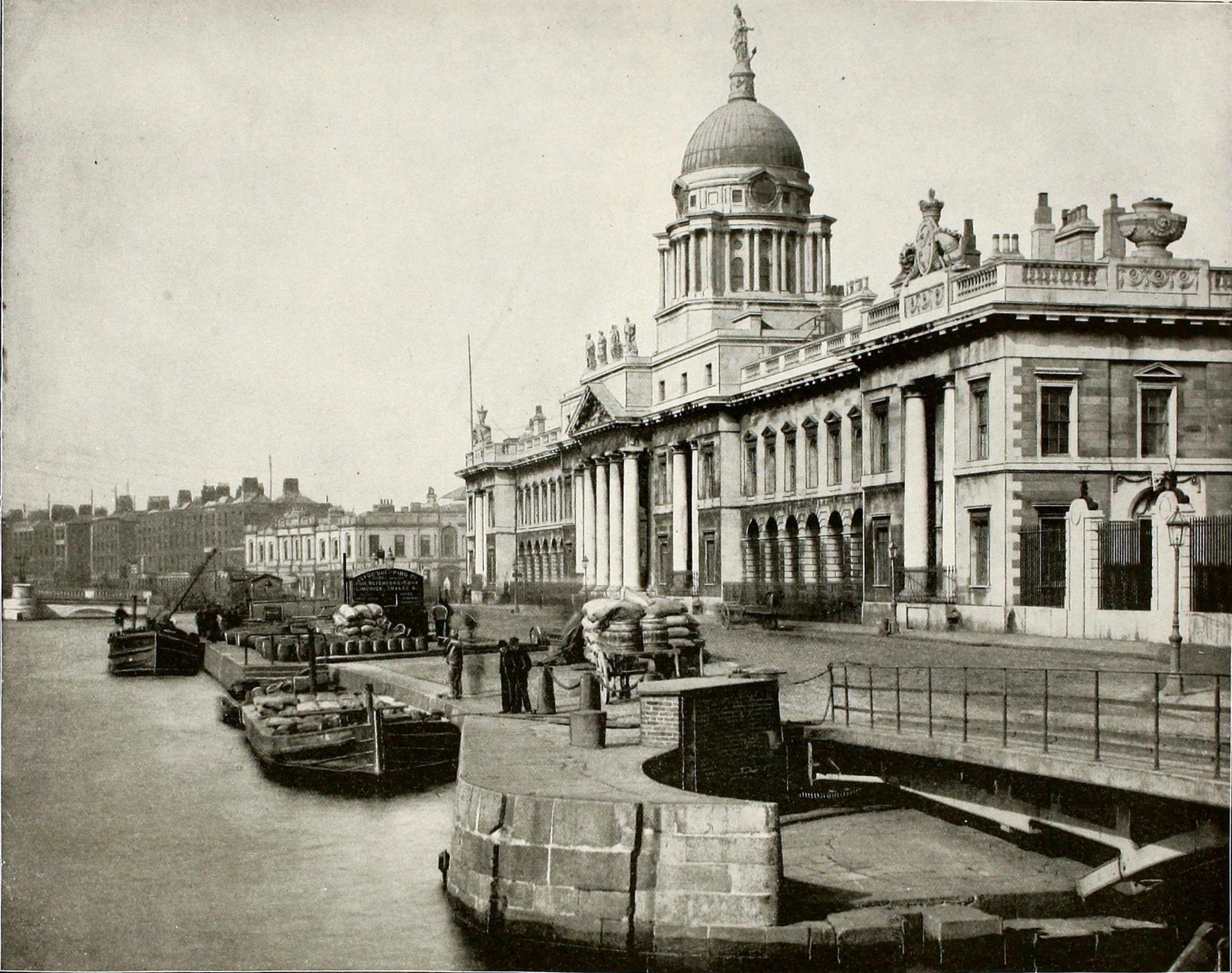 Custom House Dublin Ireland about 1892