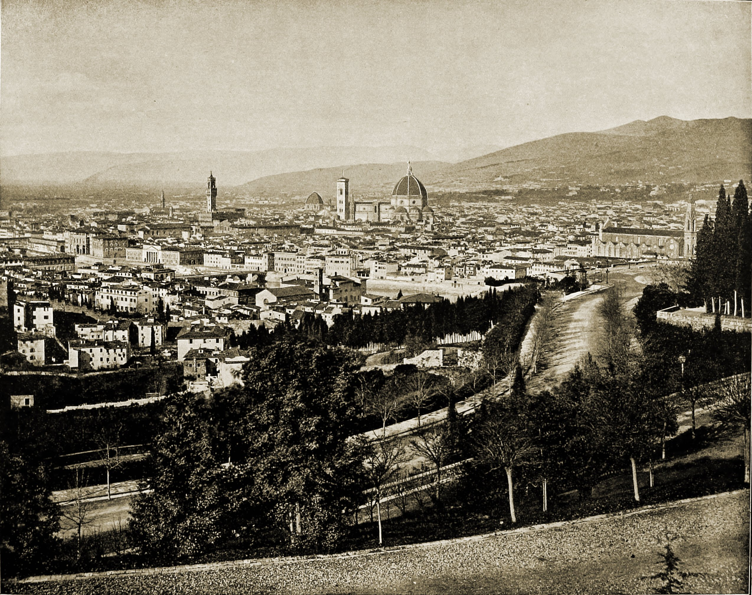 Florence Panorama Italy about 1892