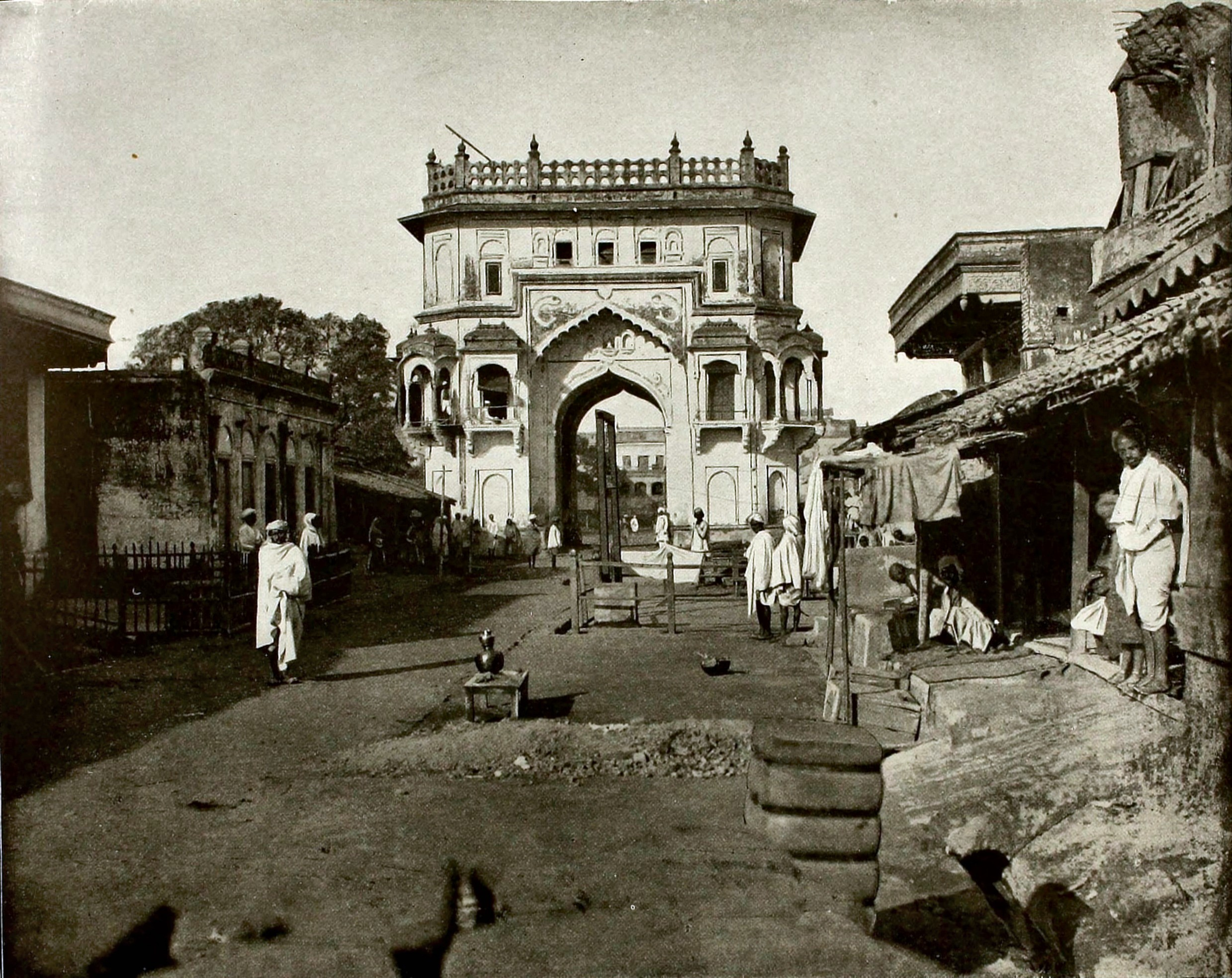 Gate to Lucknow India about 1865