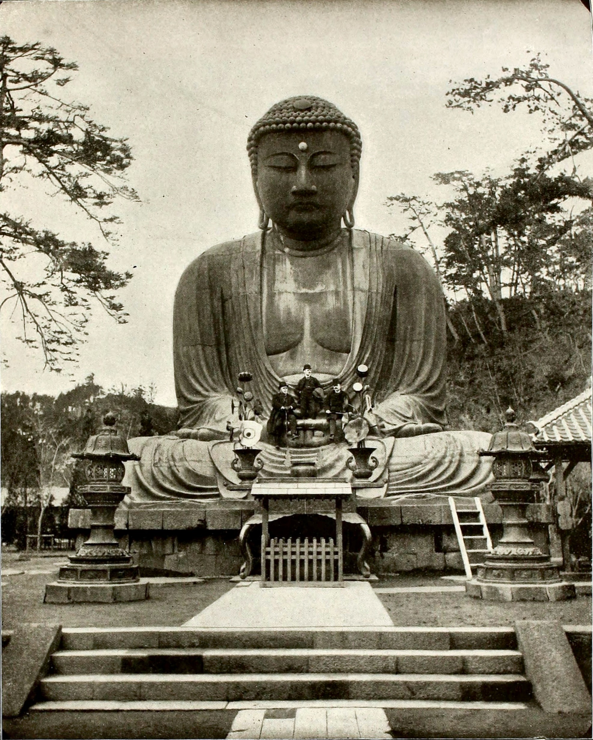 The Great Bronze Buddha in Kamakura Japan about 1892