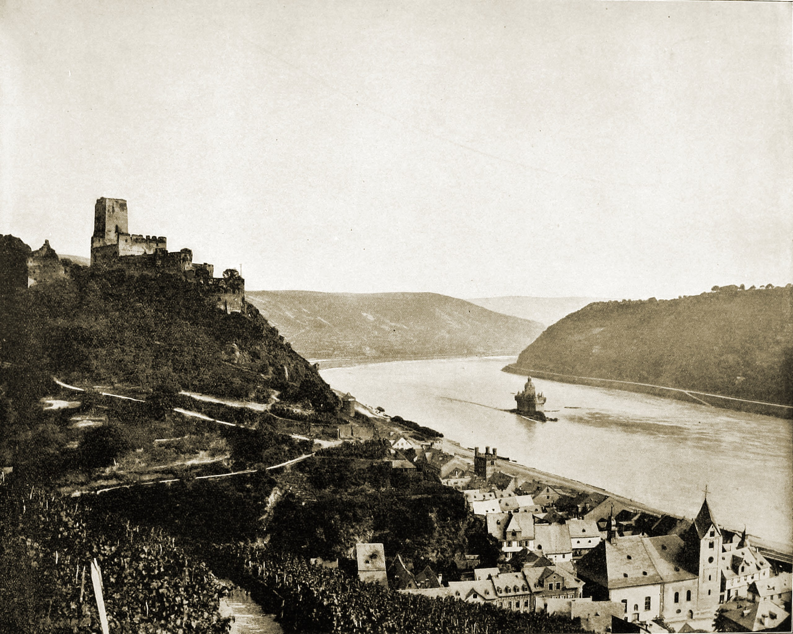 Gutenfels Castle Germany about 1892