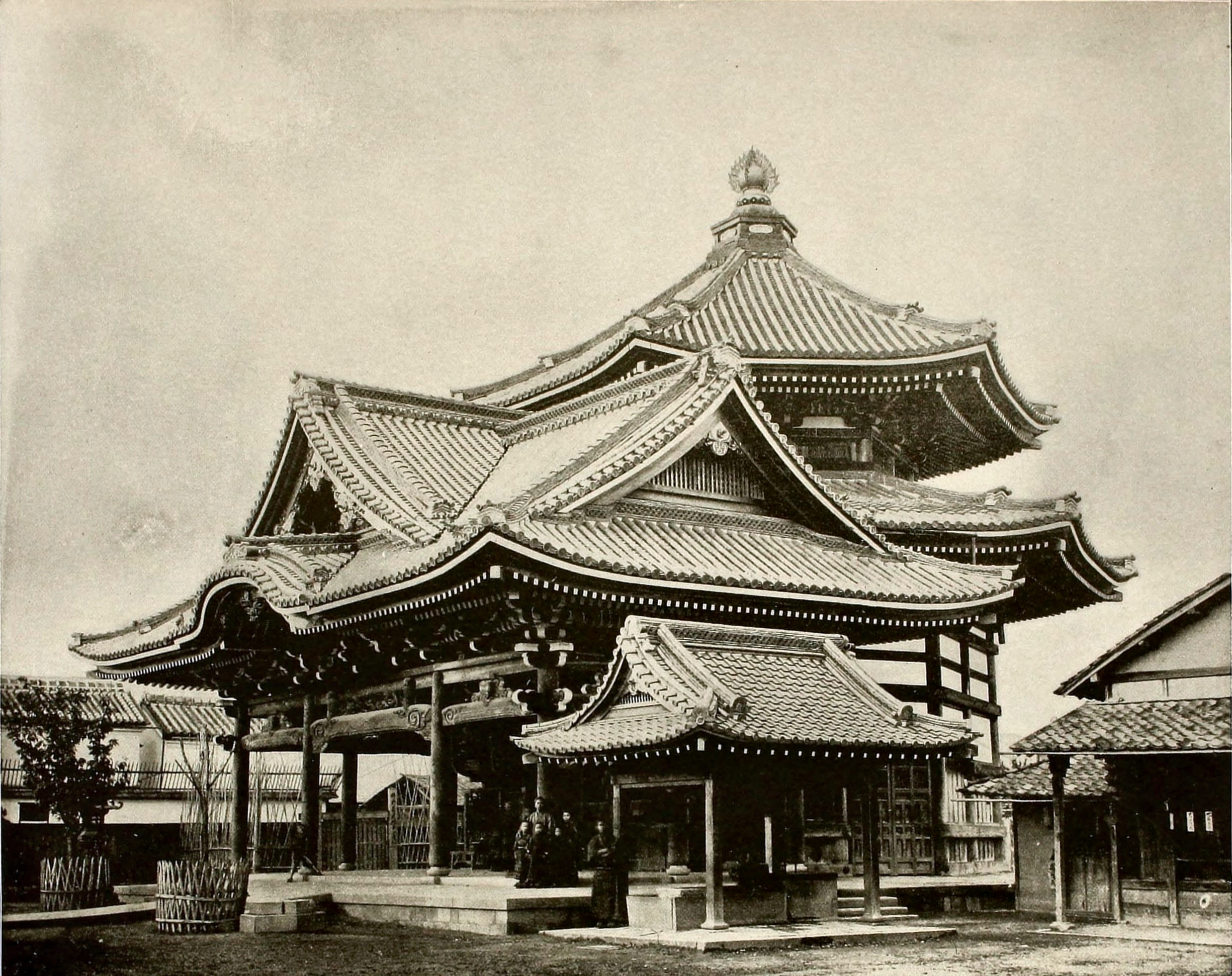 Hectagonal Temple in Kyoto Japan about 1892