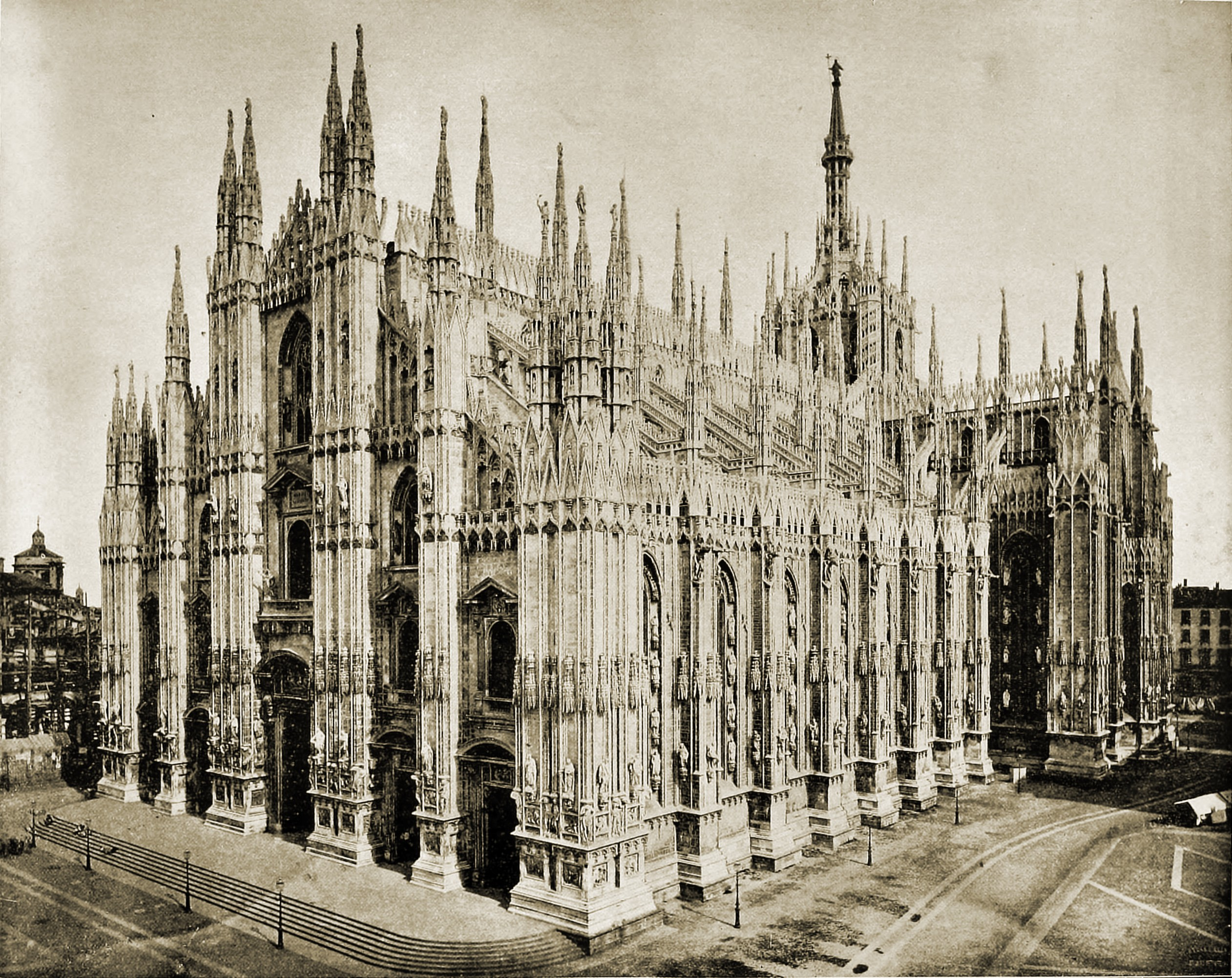 Milan Cathedral (Duomo) Italy about 1892