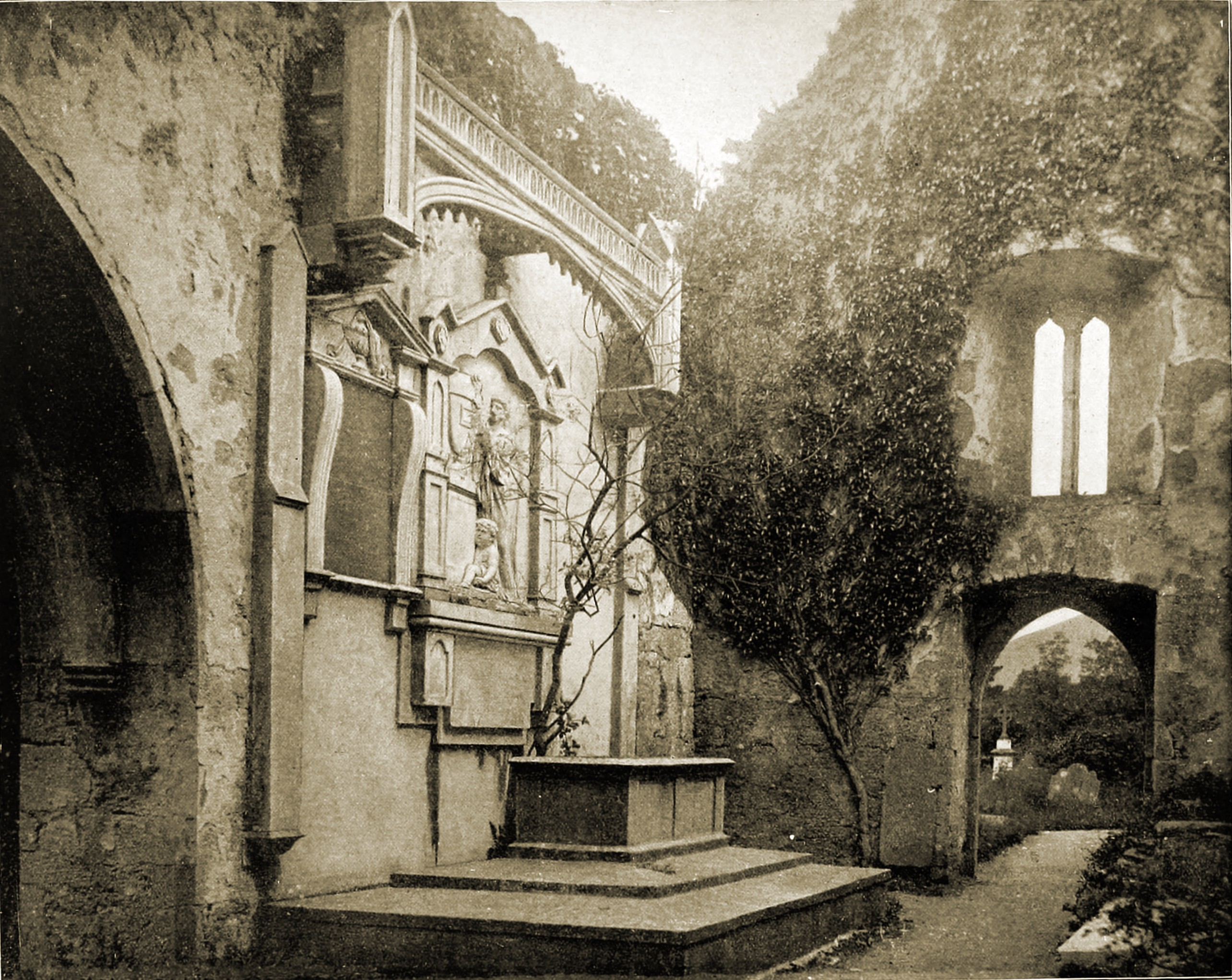 Muckross Abbey Lakes of Killarney Ireland 1892