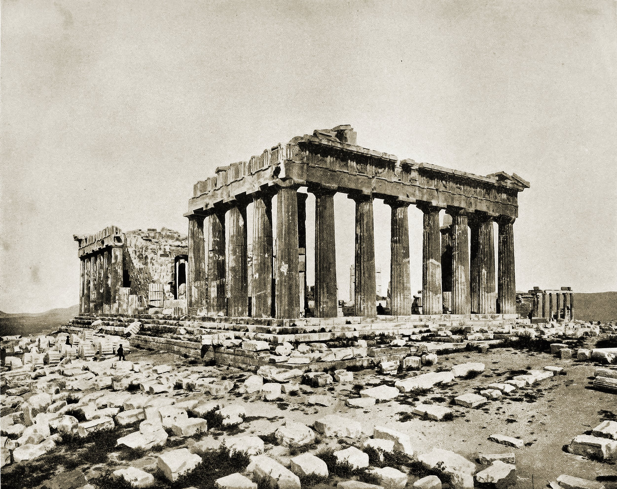 Parthenon Athens Greece about 1892