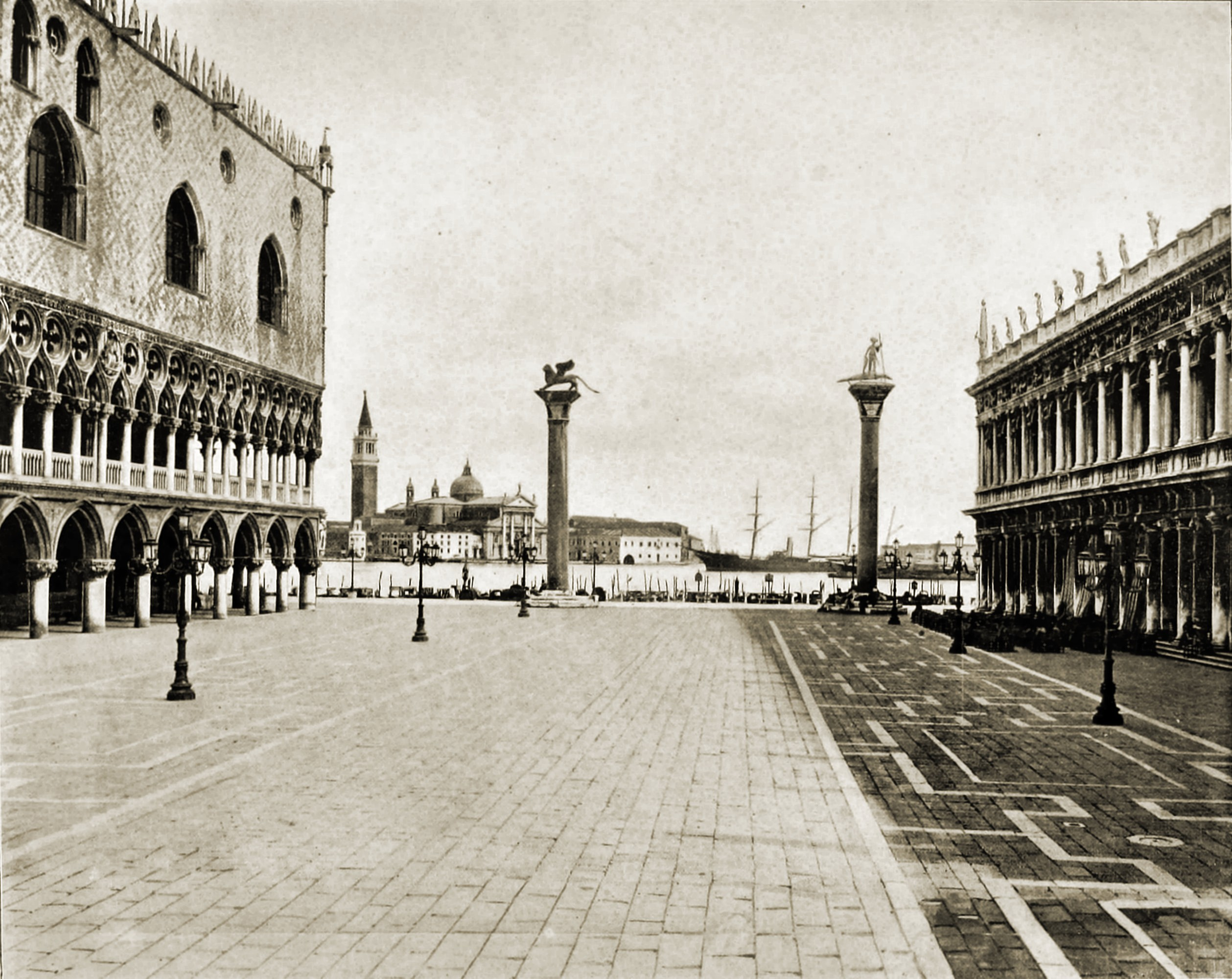 Piazzetta San Marco Venice Italy about 1892