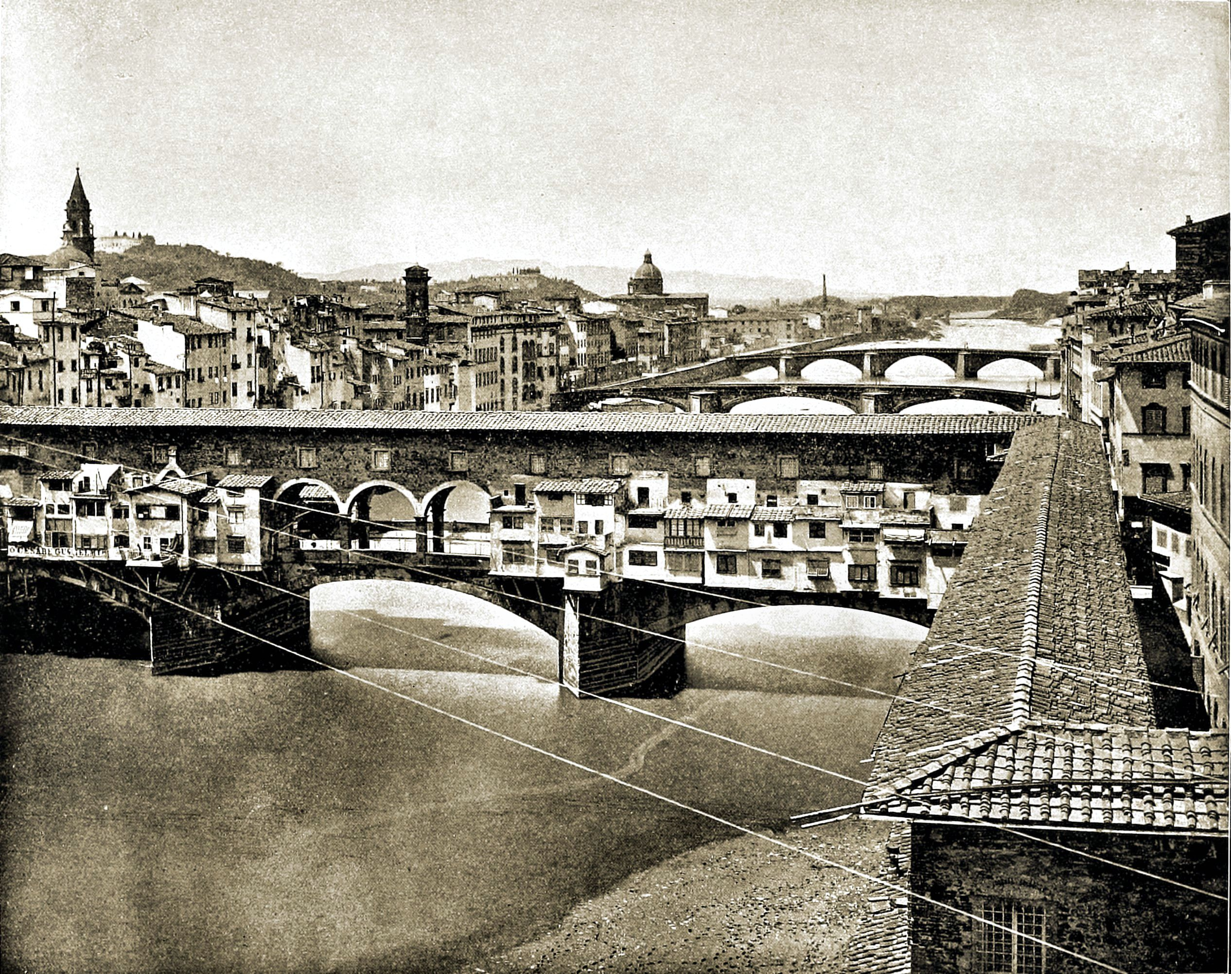 Ponte Vecchio Florence Italy about 1892