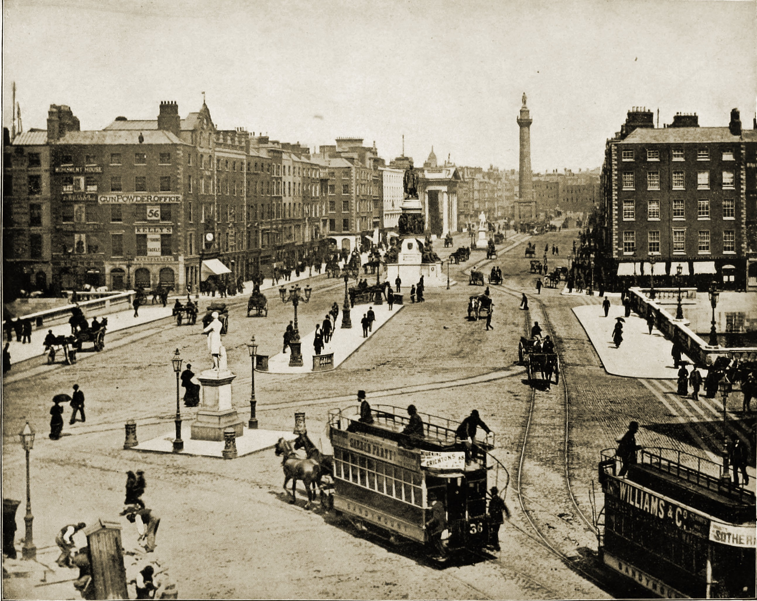 Sackville Street Dublin Ireland about 1892