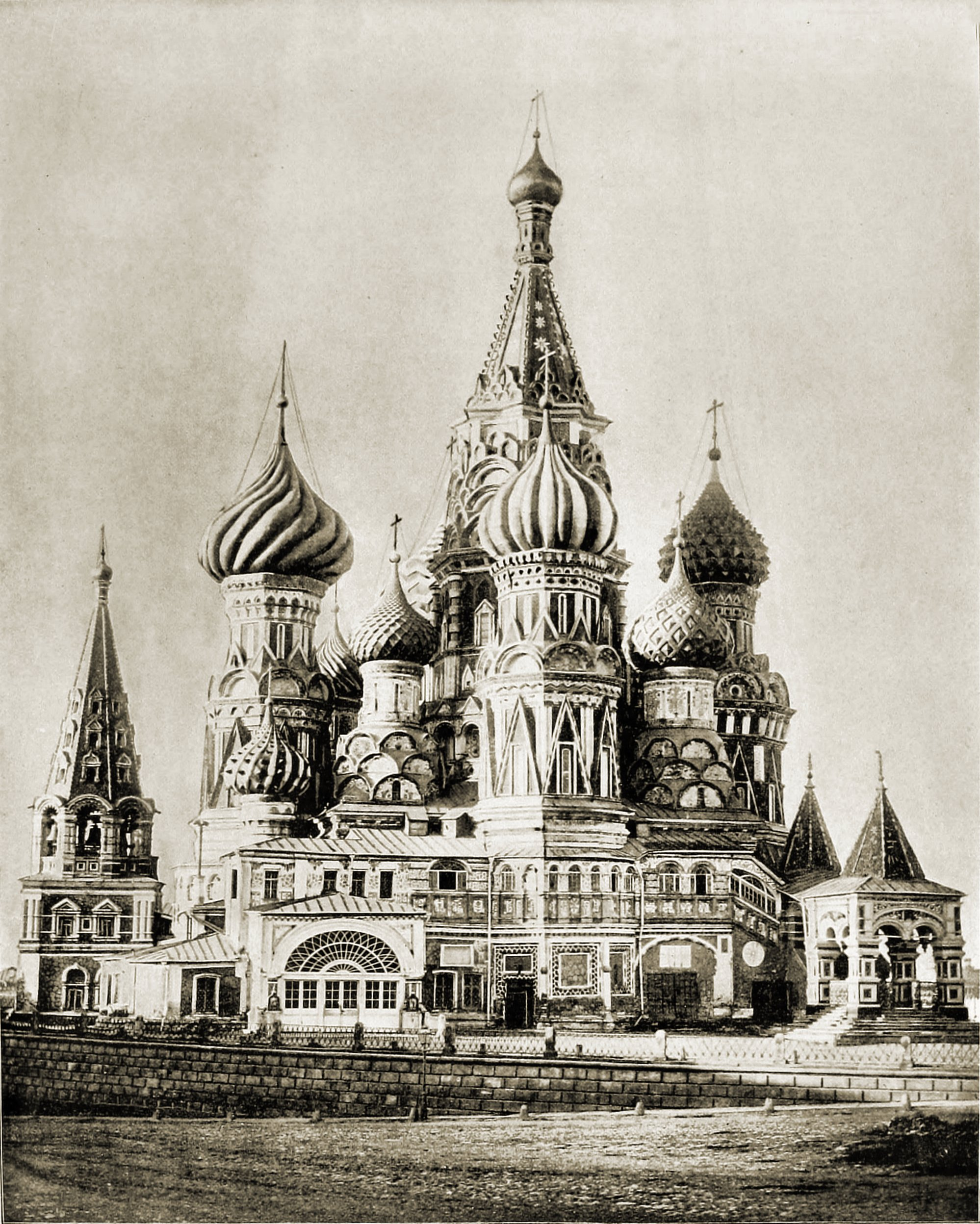 Saint Basil's Cathedral Moscow Russia about 1892