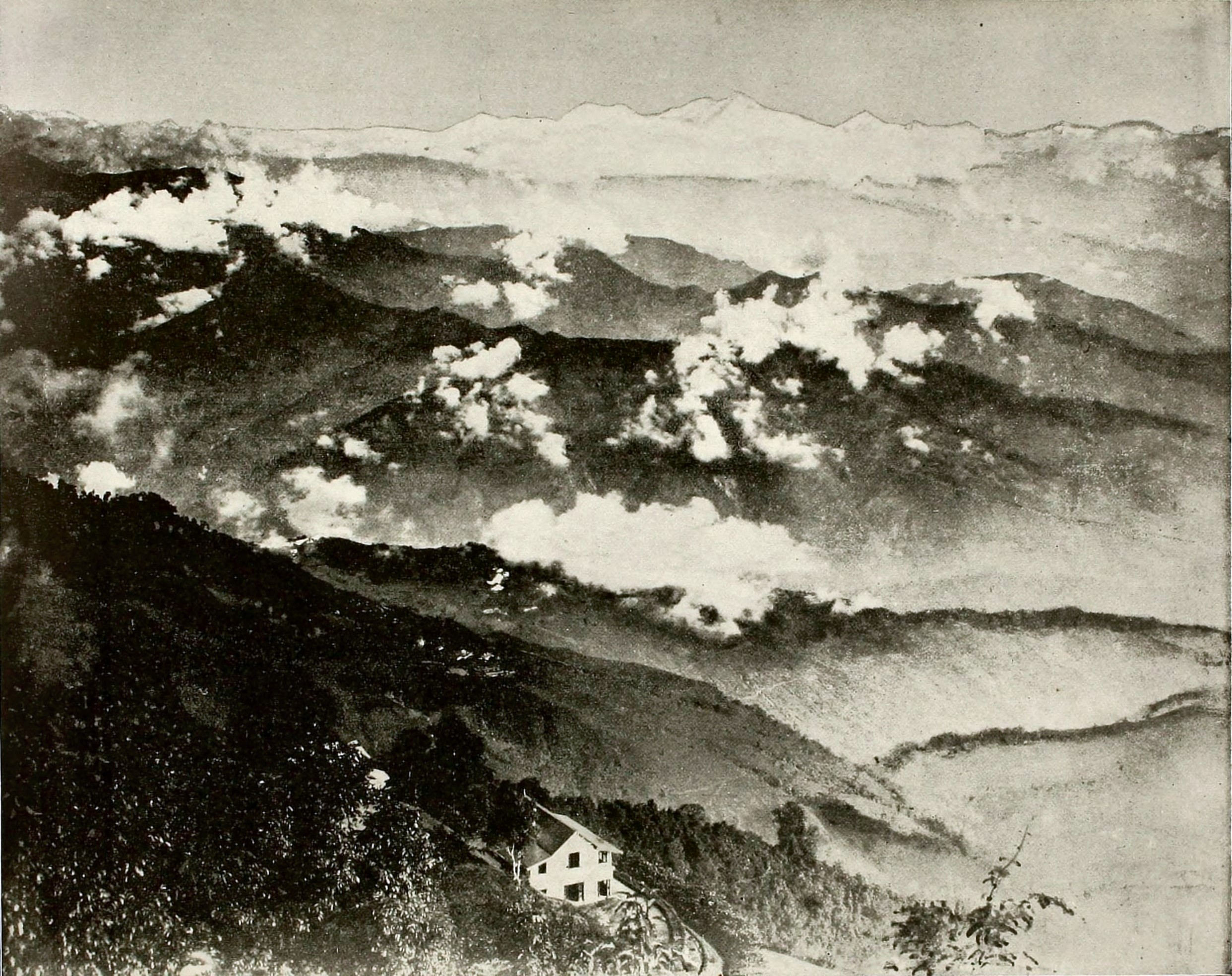 The Himalayas from Darjeeling India about 1865