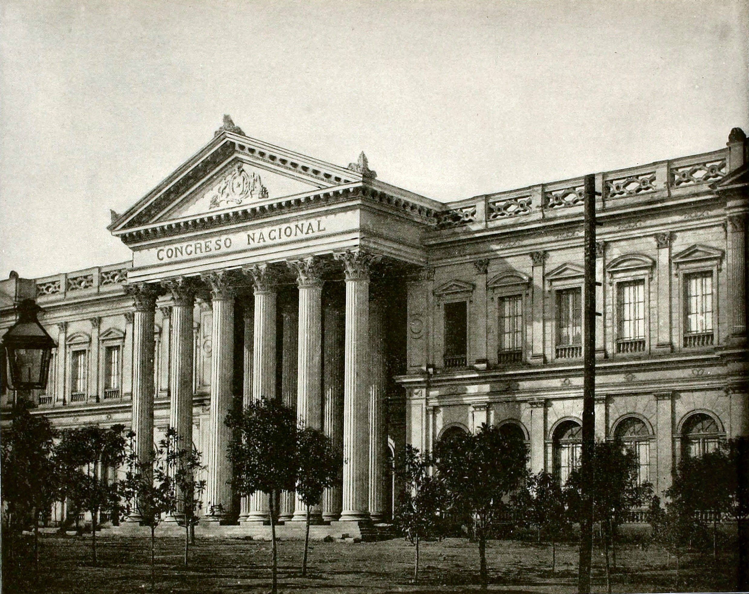 Former National Congress Building (ex Congreso Nacional) Santiago Chile about 1892