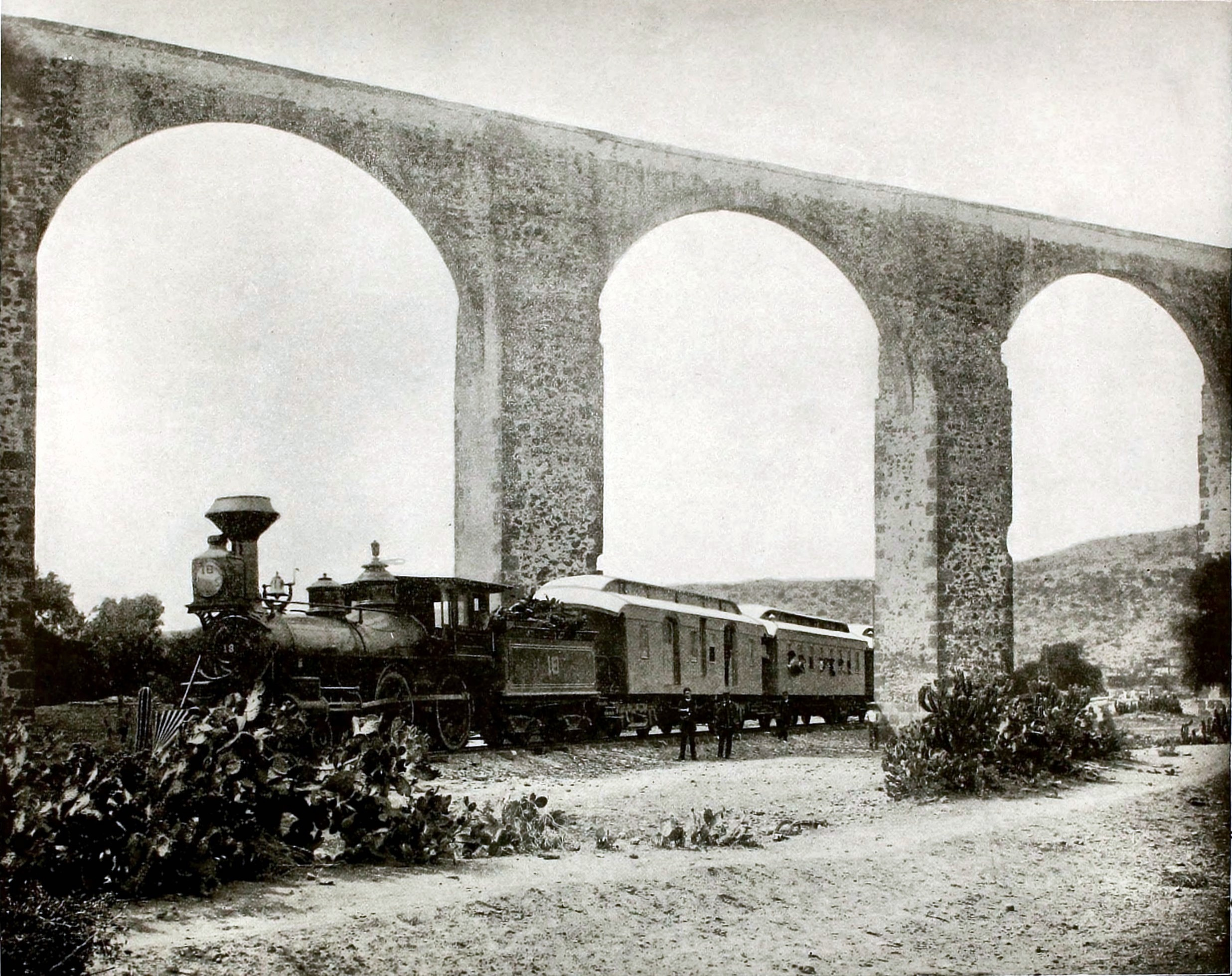 Acqueduct near Queretaro City, Mexico about 1892