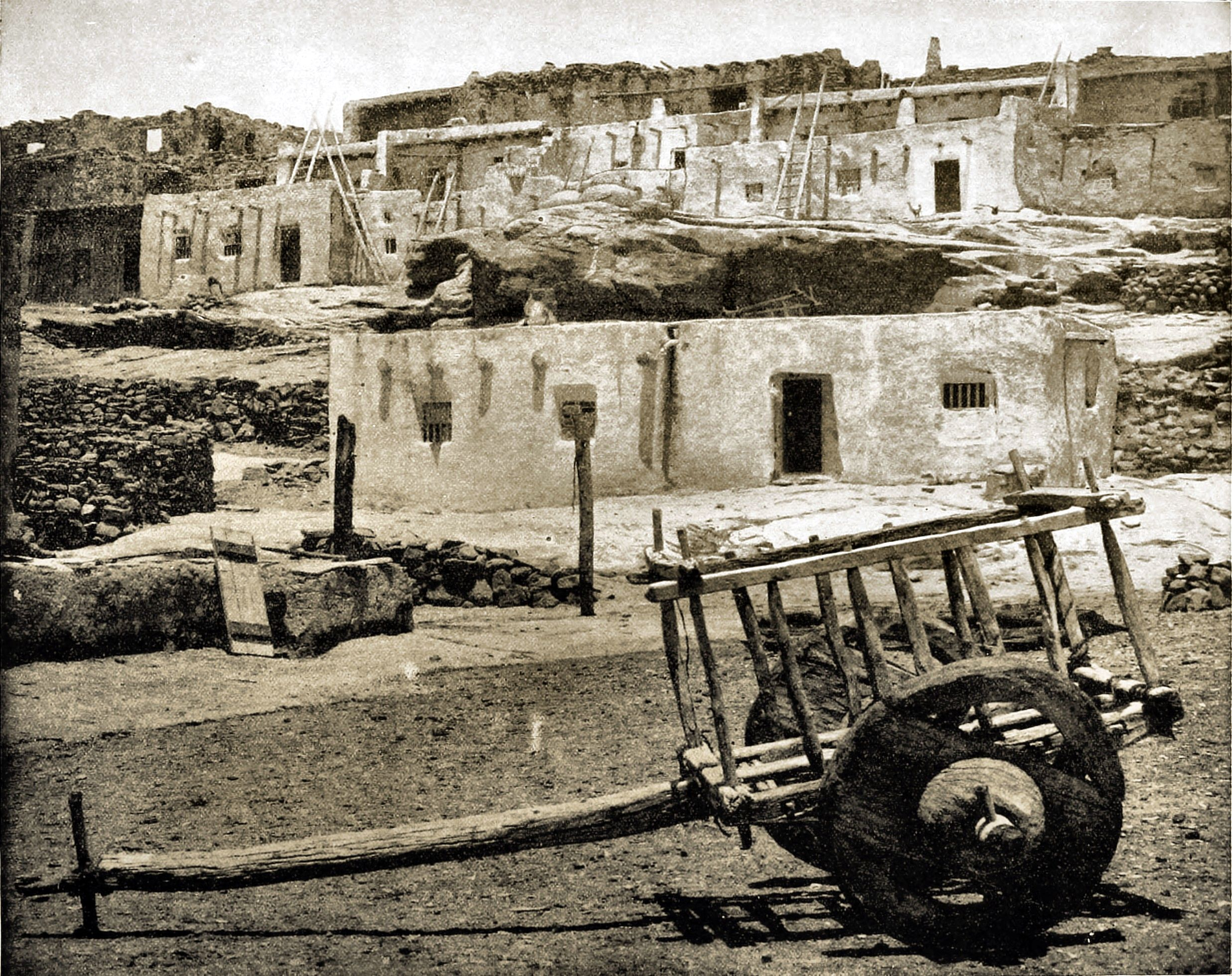Adobe Houses, New Mexico, USA about 1892