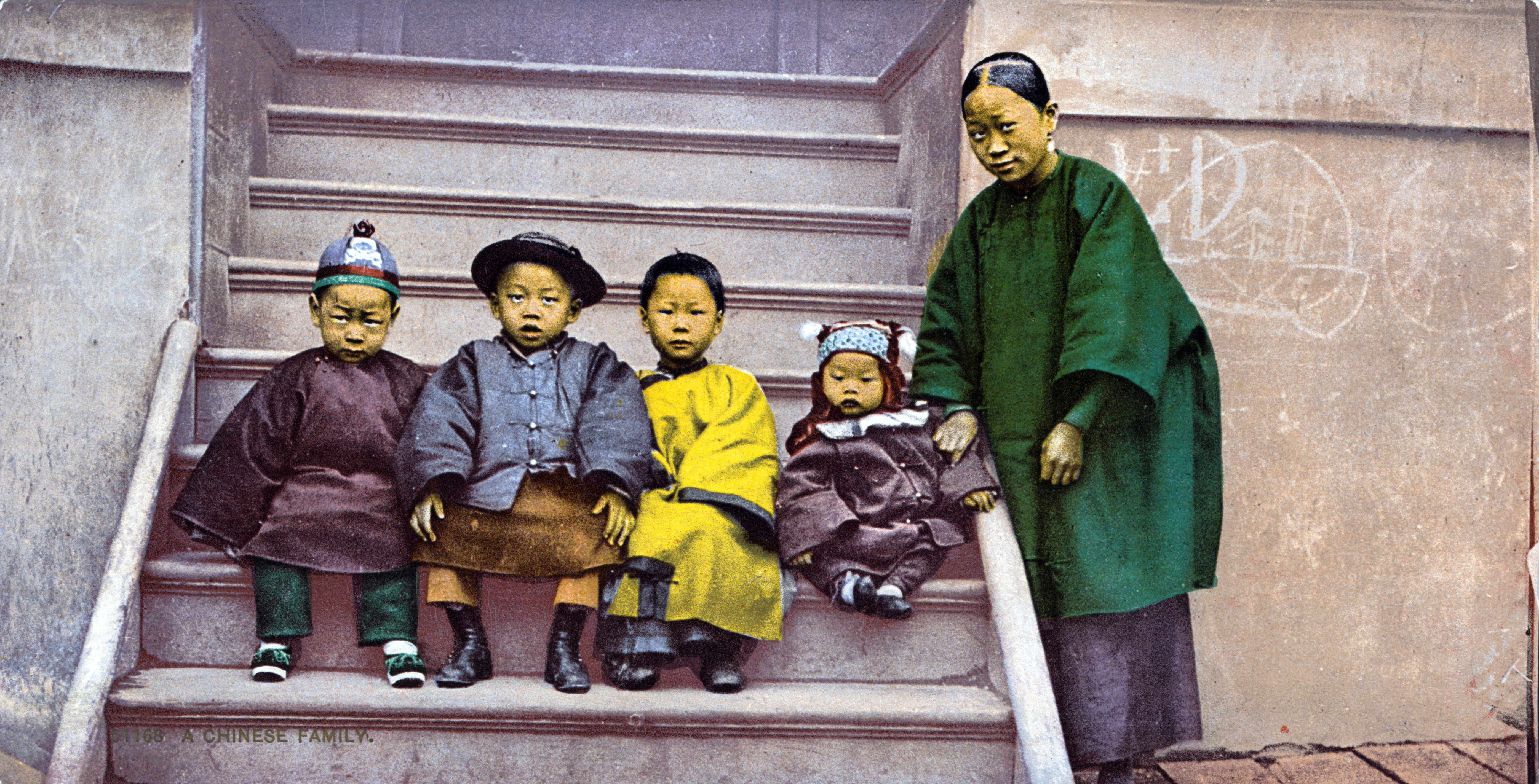 A Chinese Family in California about 1891