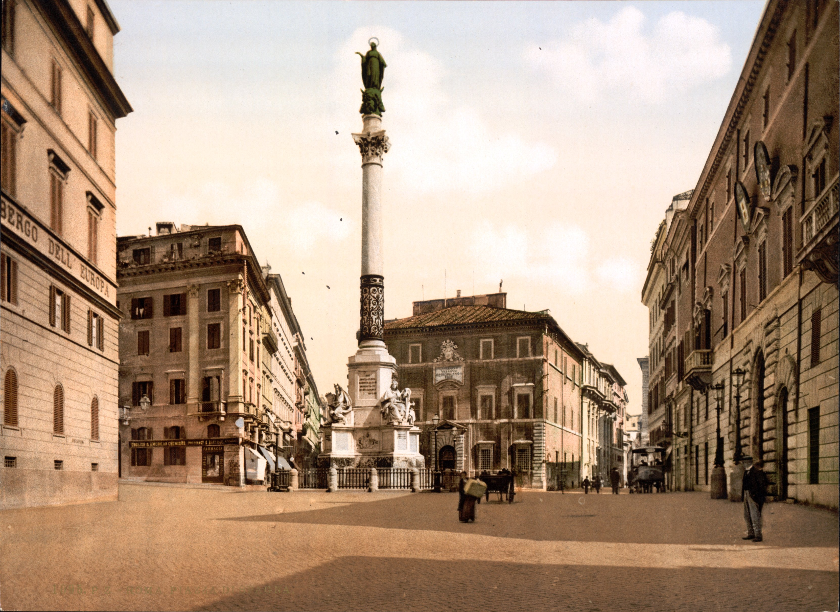 Column of the Immaculate Conception Rome 1895