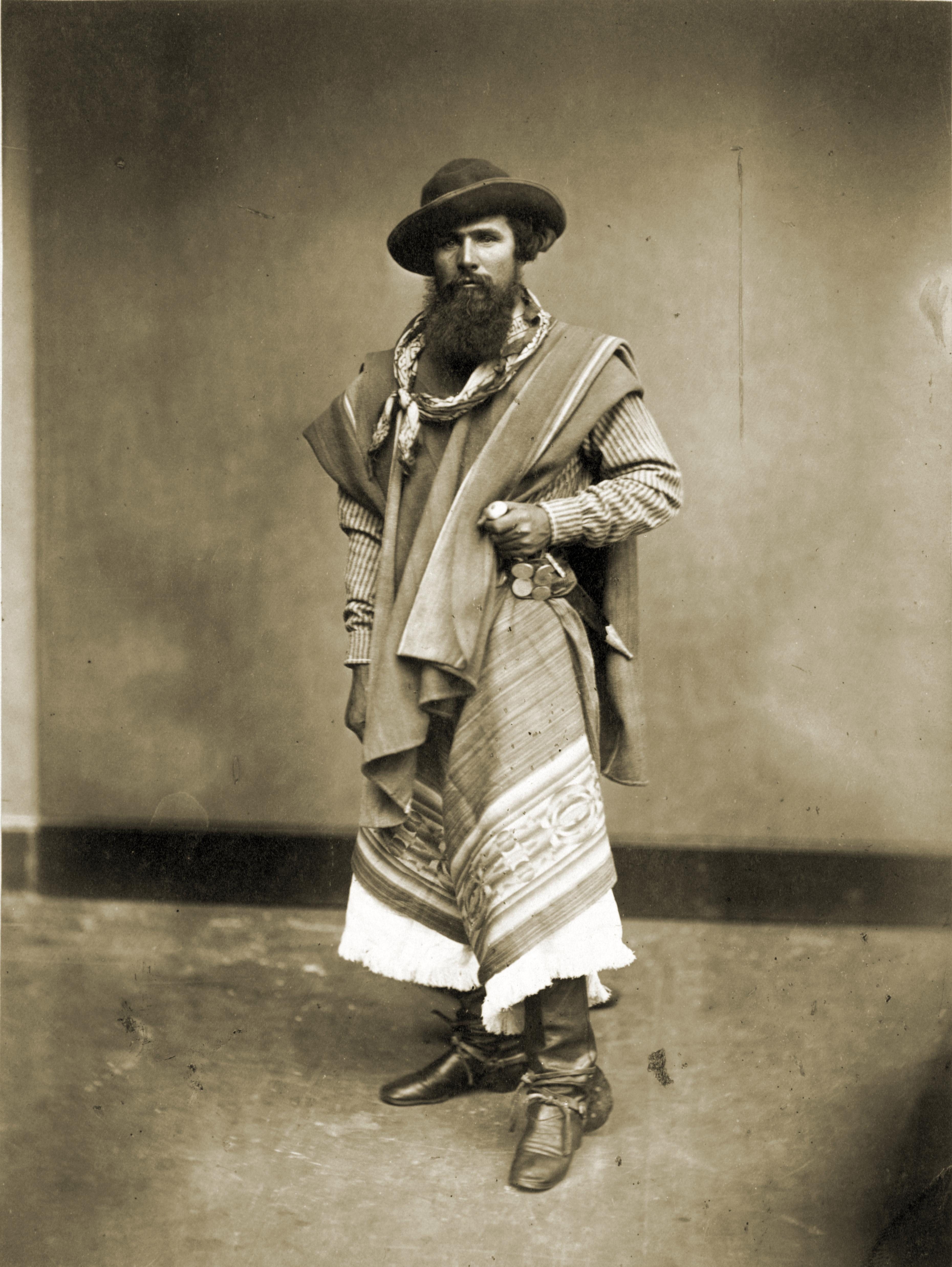 Portrait of a Gaucho from Argentina 1868