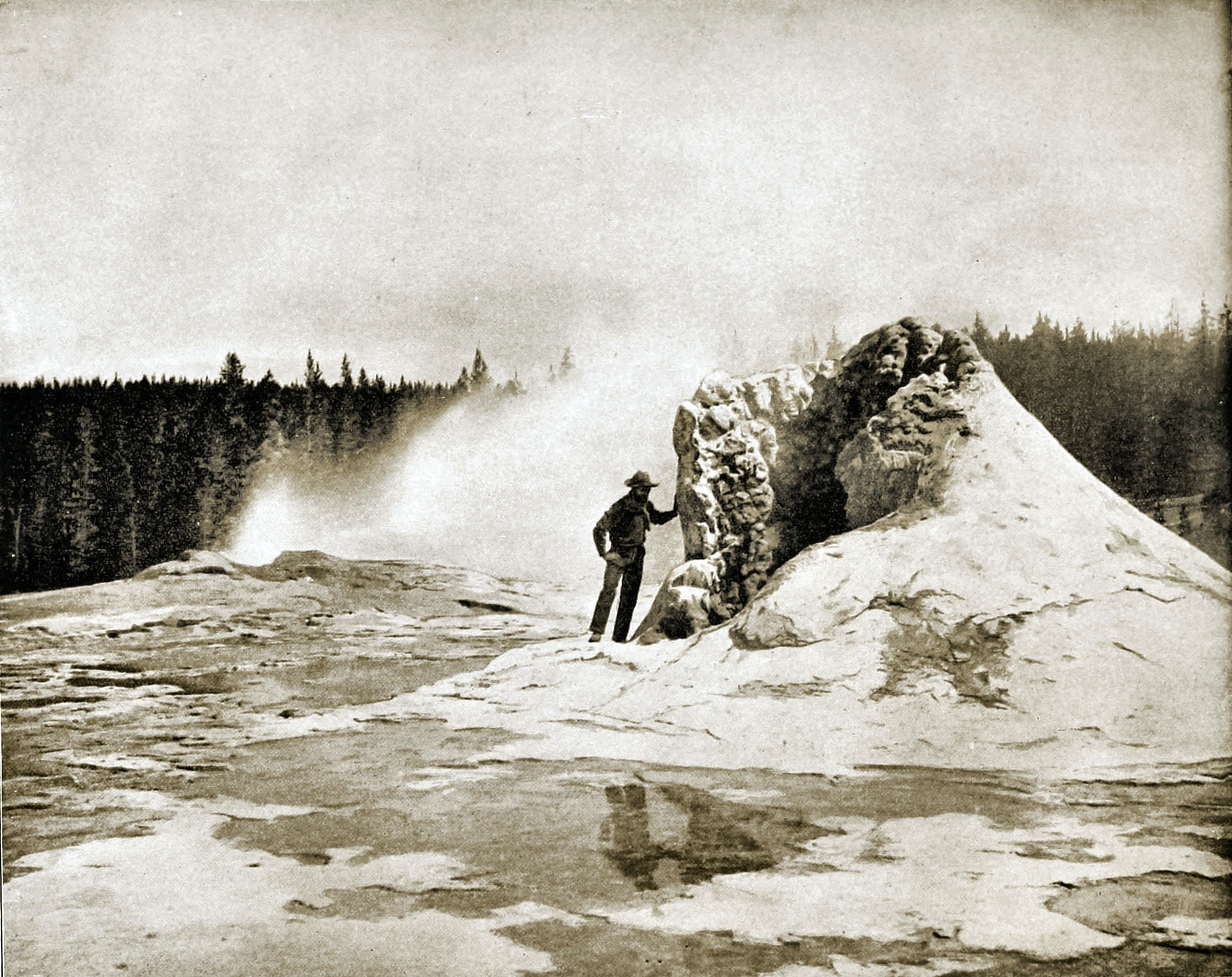 Giant Geyser, Yellowstone National Park, USA about 1892