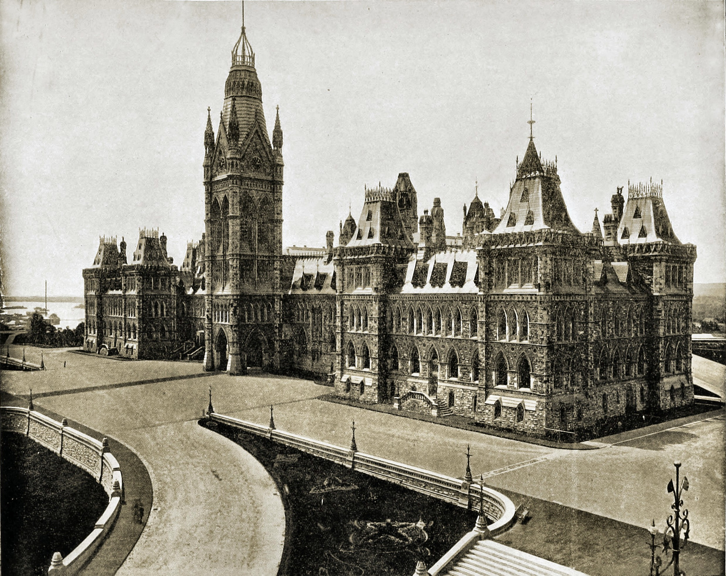 Parliament Hill Ottawa Canada about 1892