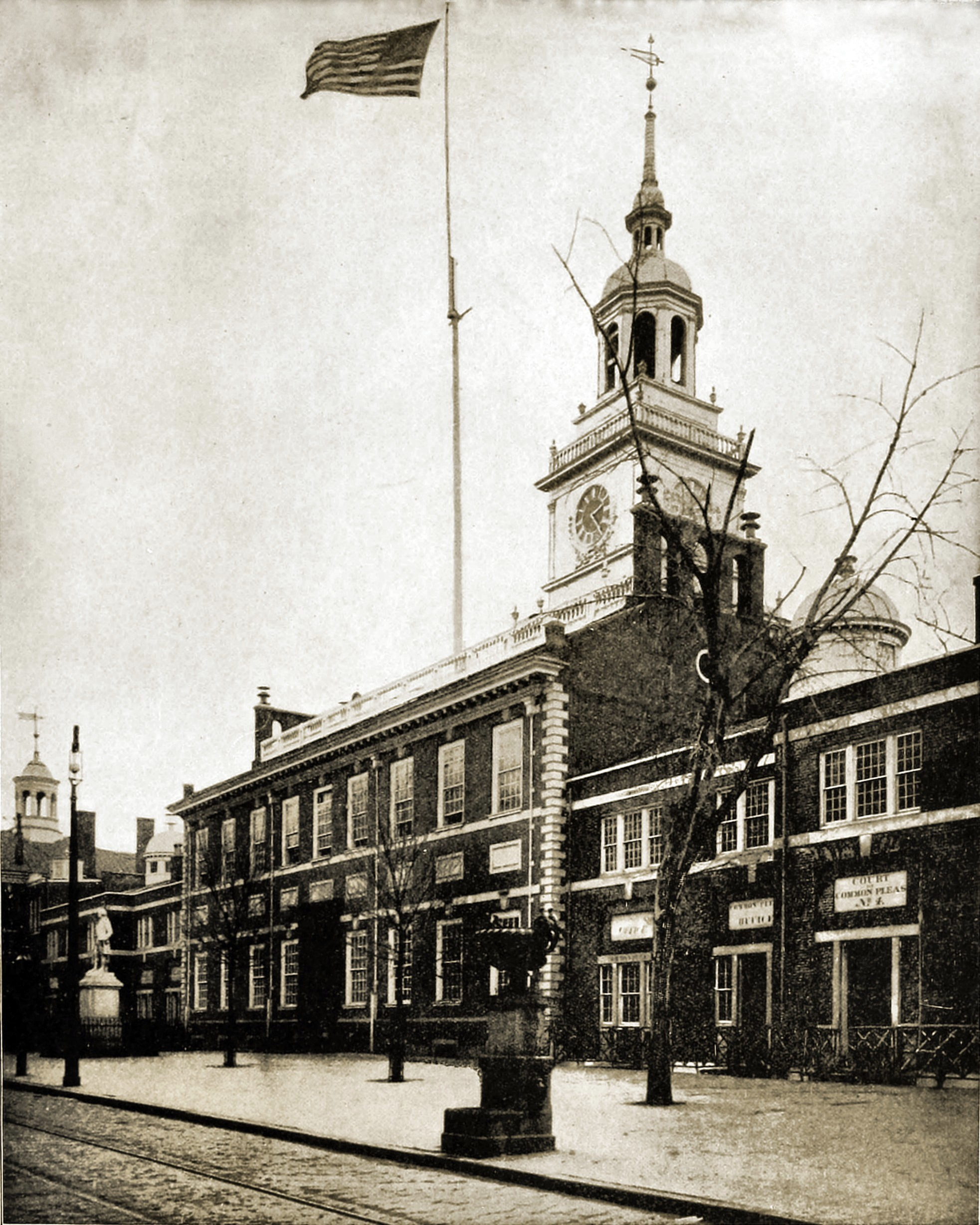 Independence Hall, Philadelphia, Pennsylvania, USA about 1892