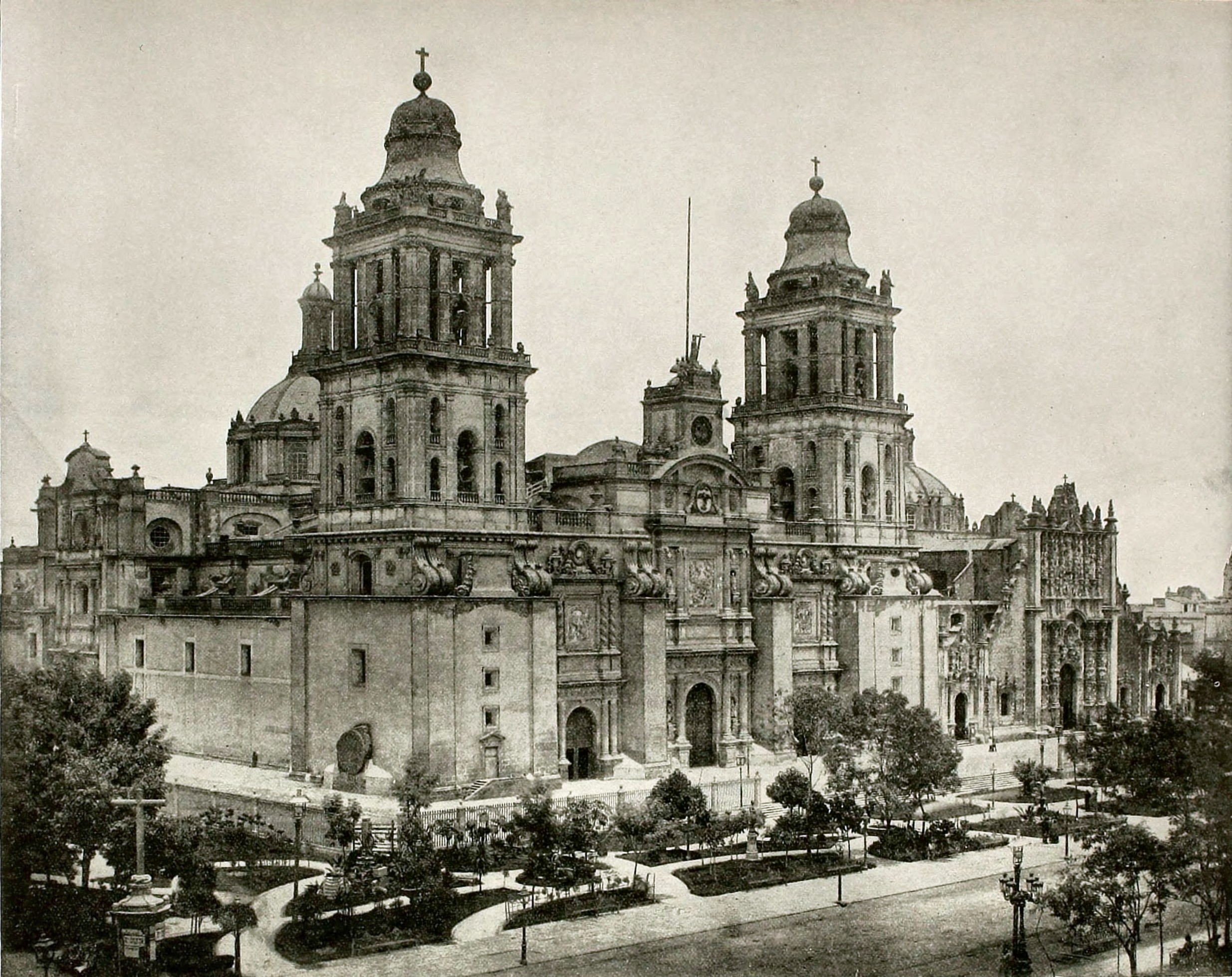 Mexico City Cathedral Mexico about 1892