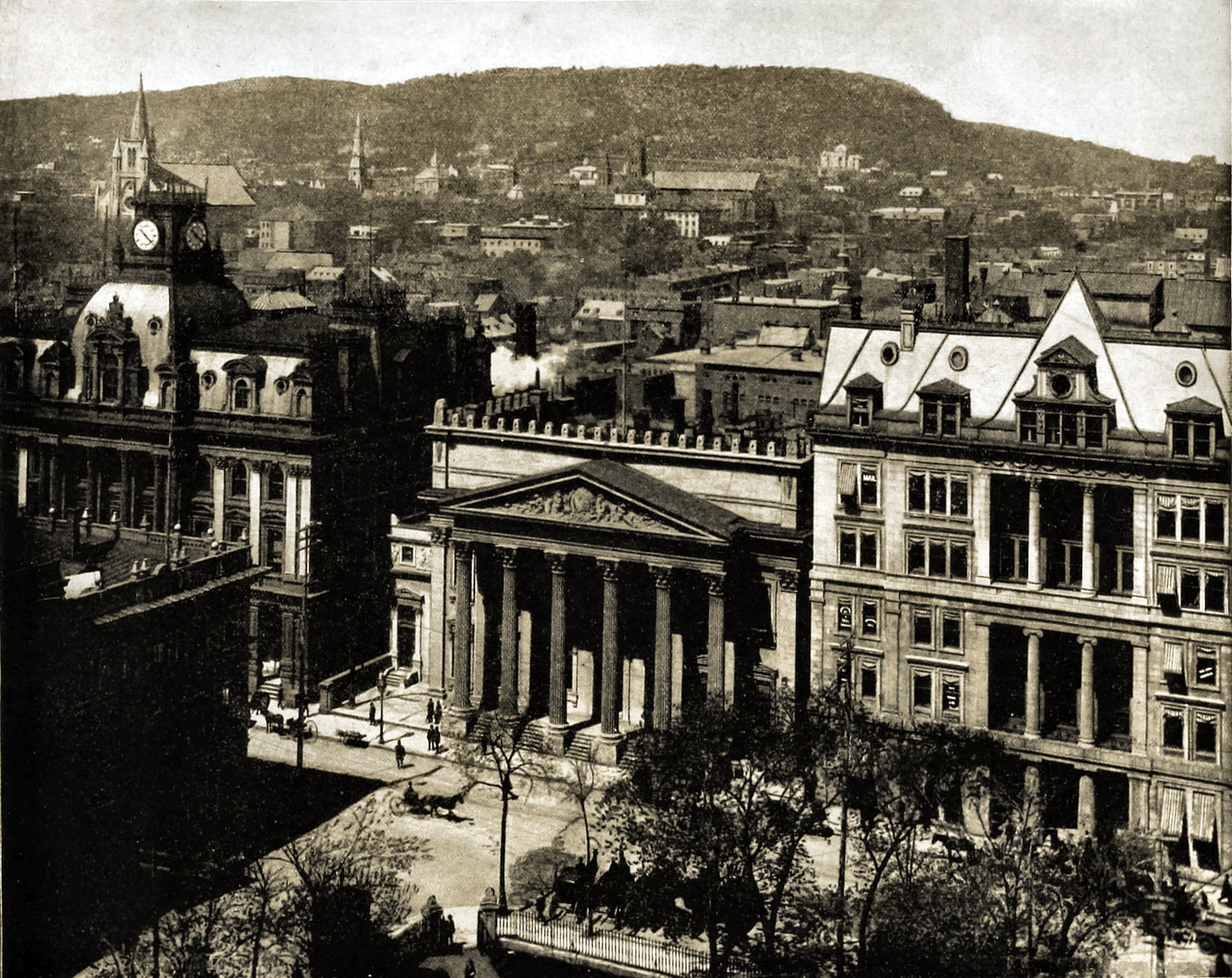 Montreal and Mount Royal Canada about 1892