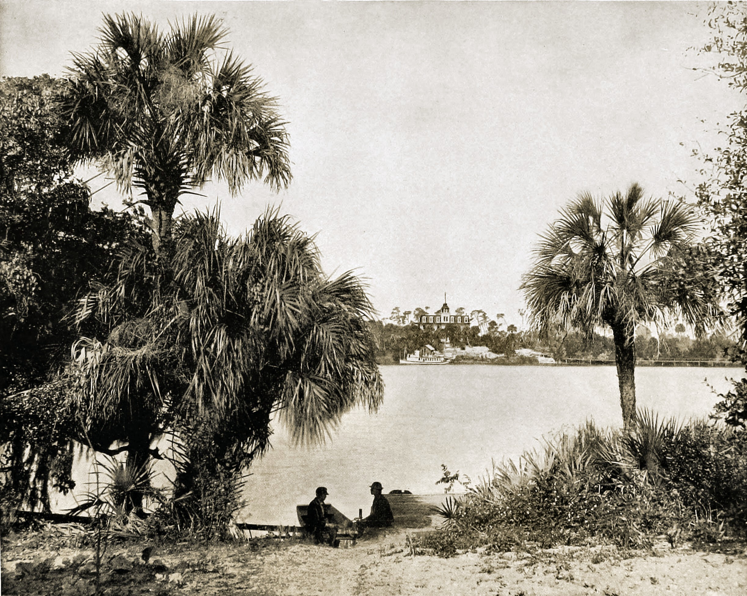 On Indian River, Florida, USA about 1892