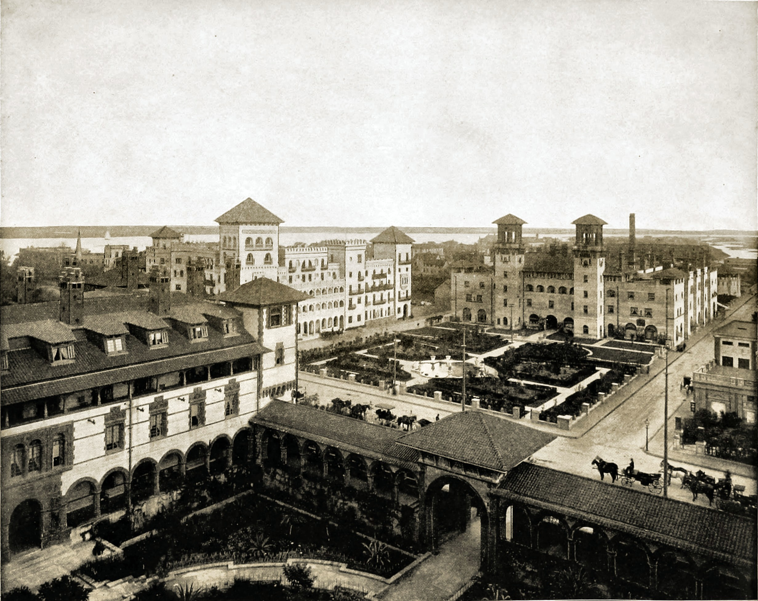 Panorama from Ponce de Leon Hotel, St. Augustine, Florida, USA about 1892