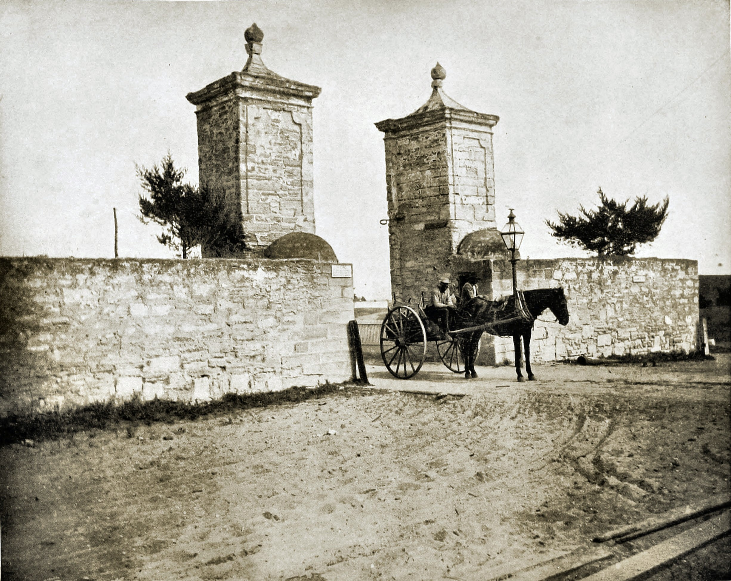 The Old City Gate, St. Augustine, Florida, USA about 1892