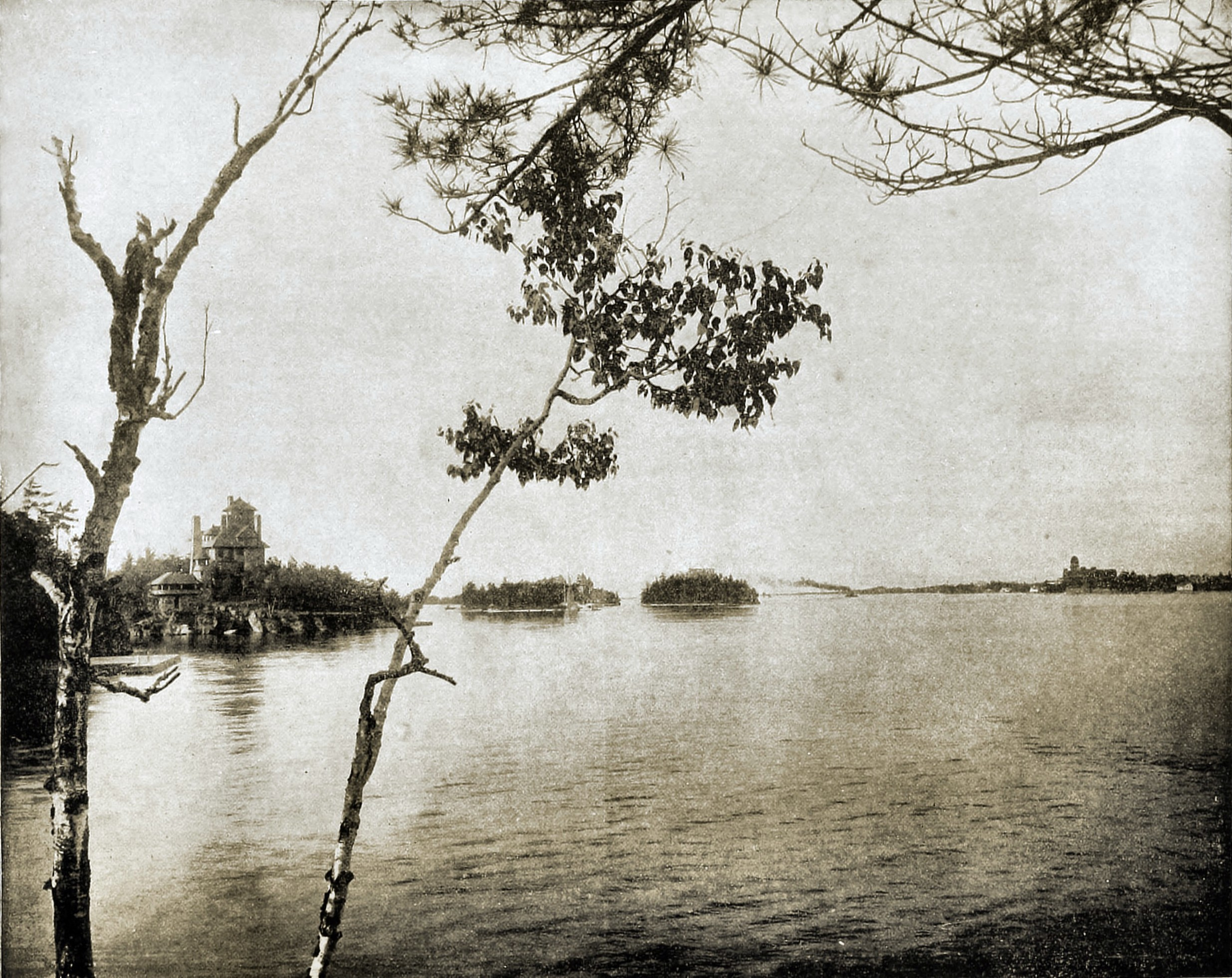 Thousand Islands St Lawrence River Canada about 1892