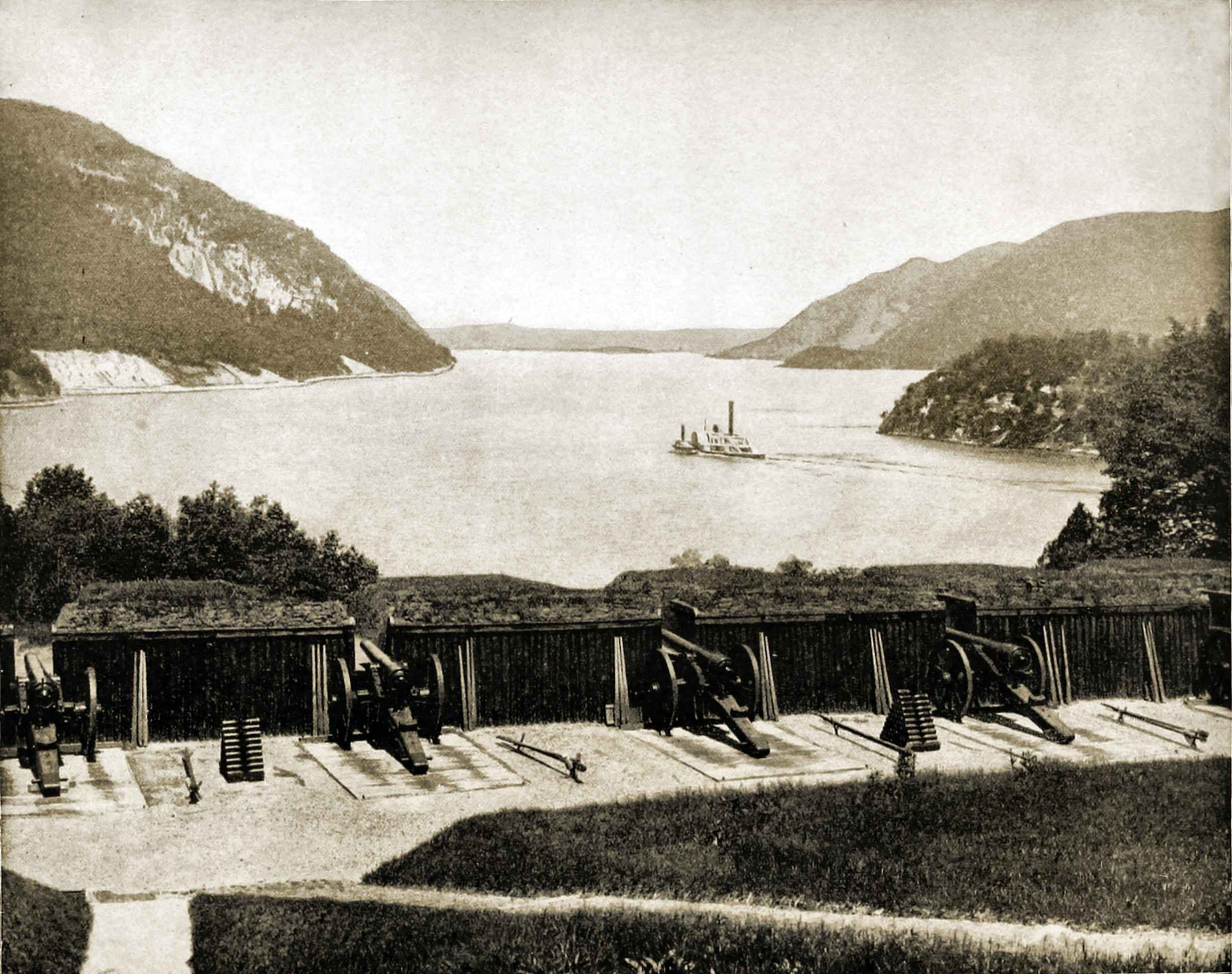 Up the Hudson from West Point, New York USA about 1892
