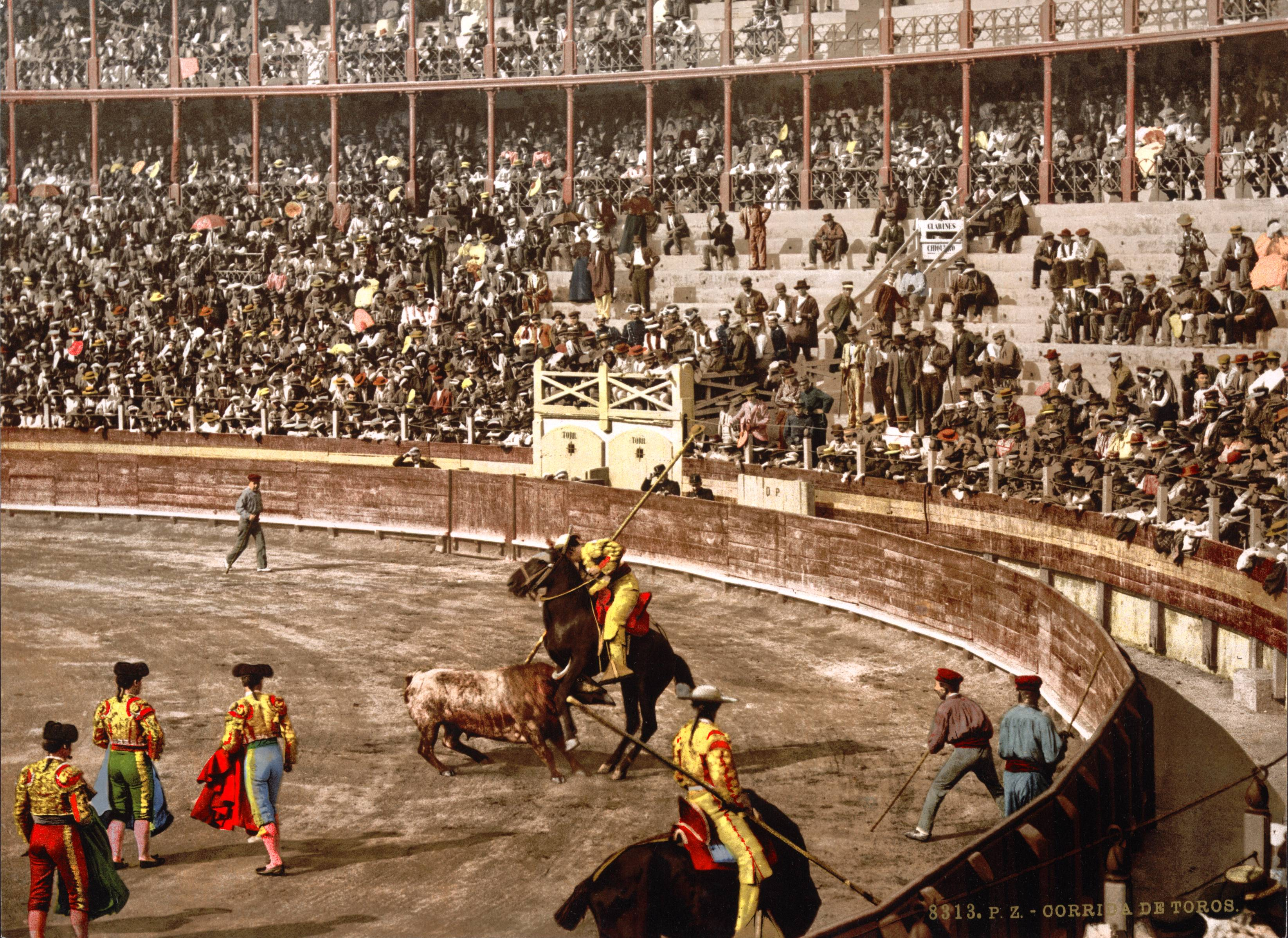 A Bull Fight Barcelona Spain about 1895