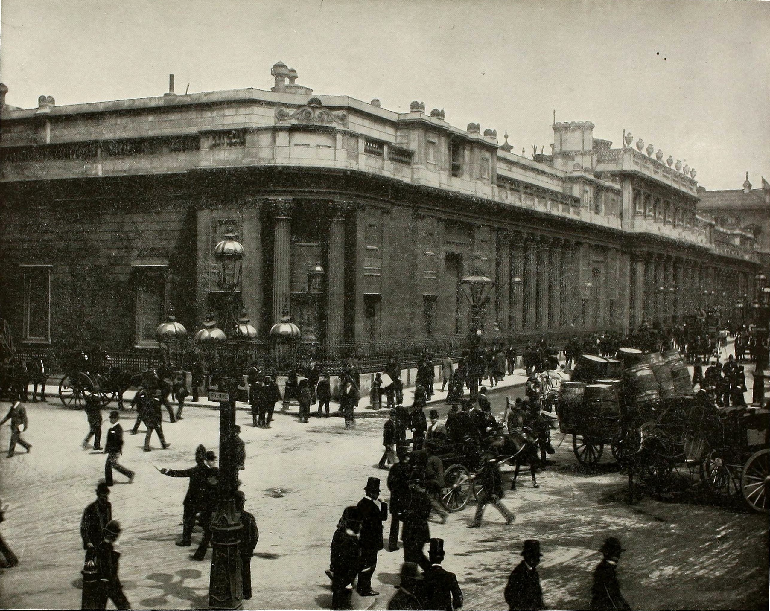 Bank of England London about 1892