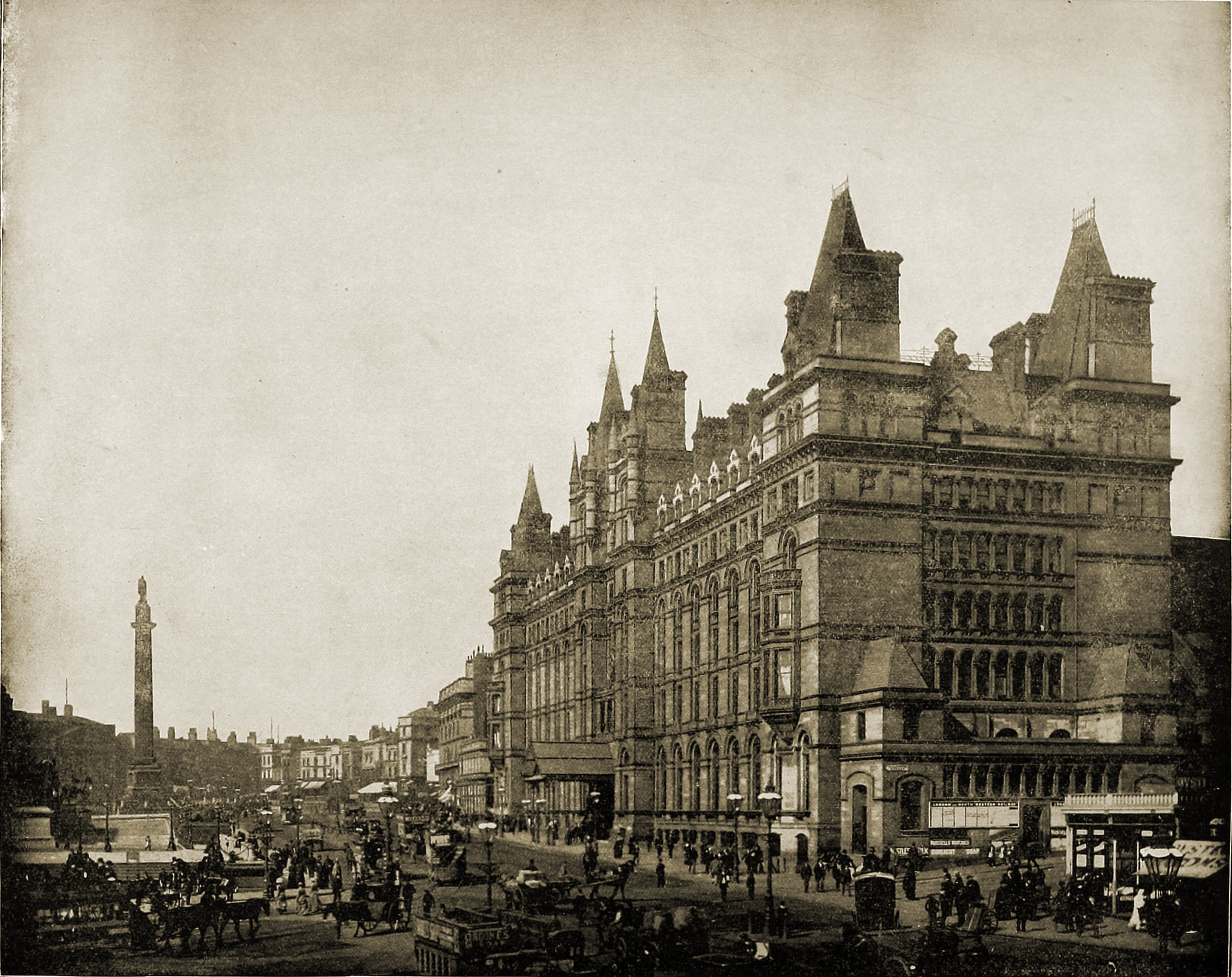 Liverpool Lime Street England about 1892