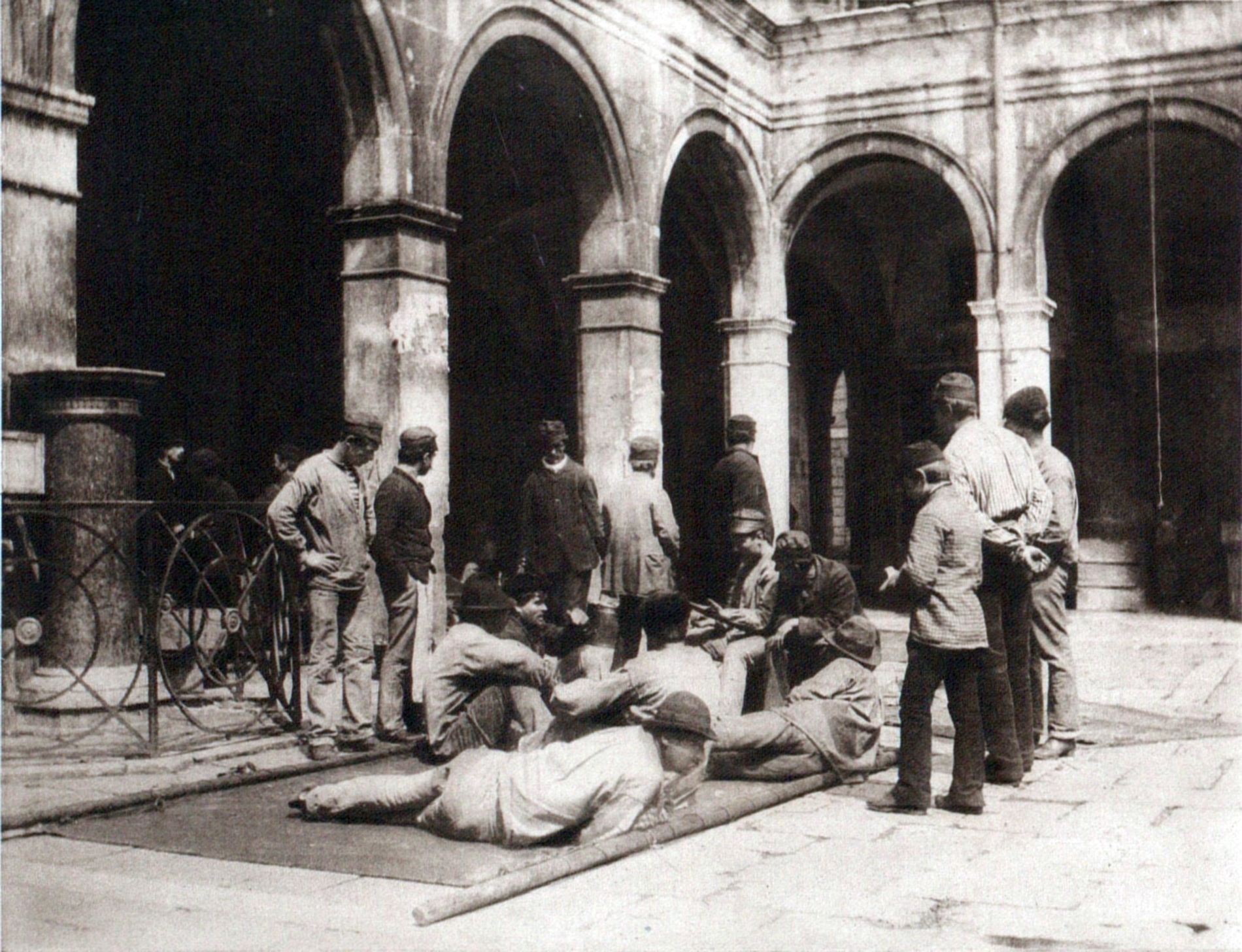 Morra Players in Venice Italy about 1894