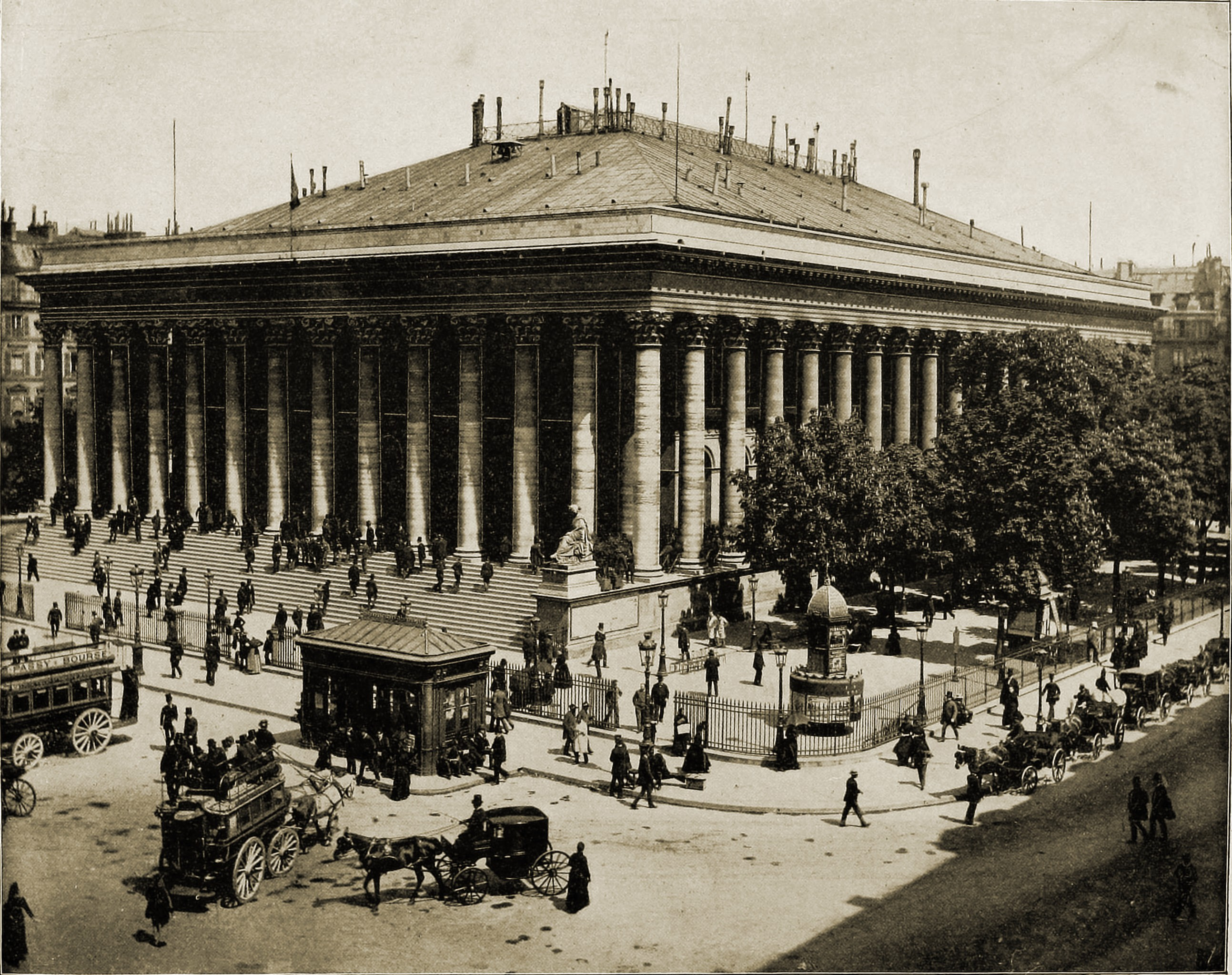 Paris Bourse (Exchange) France about 1892