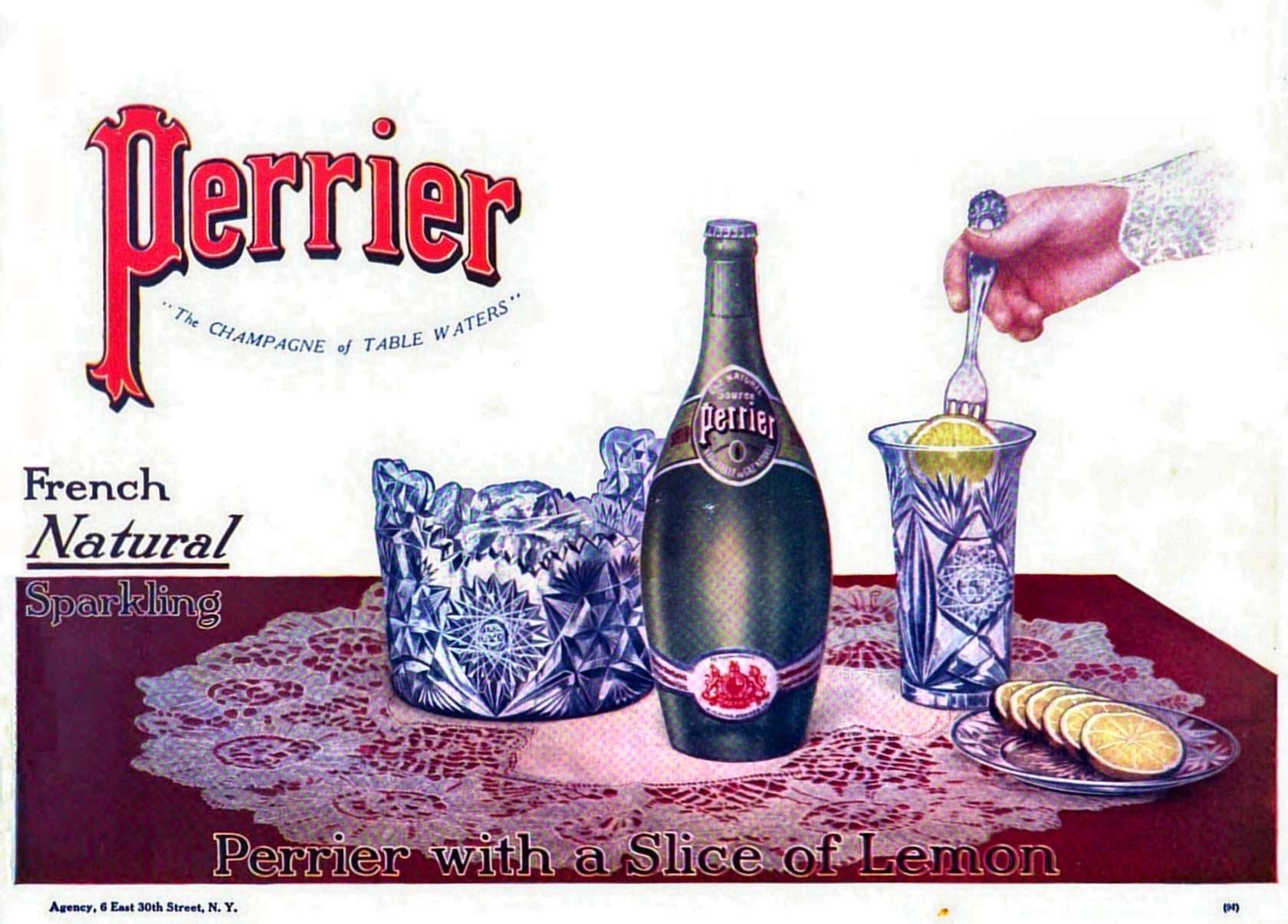 Perrier French Natural Sparkling Advertisement 1910