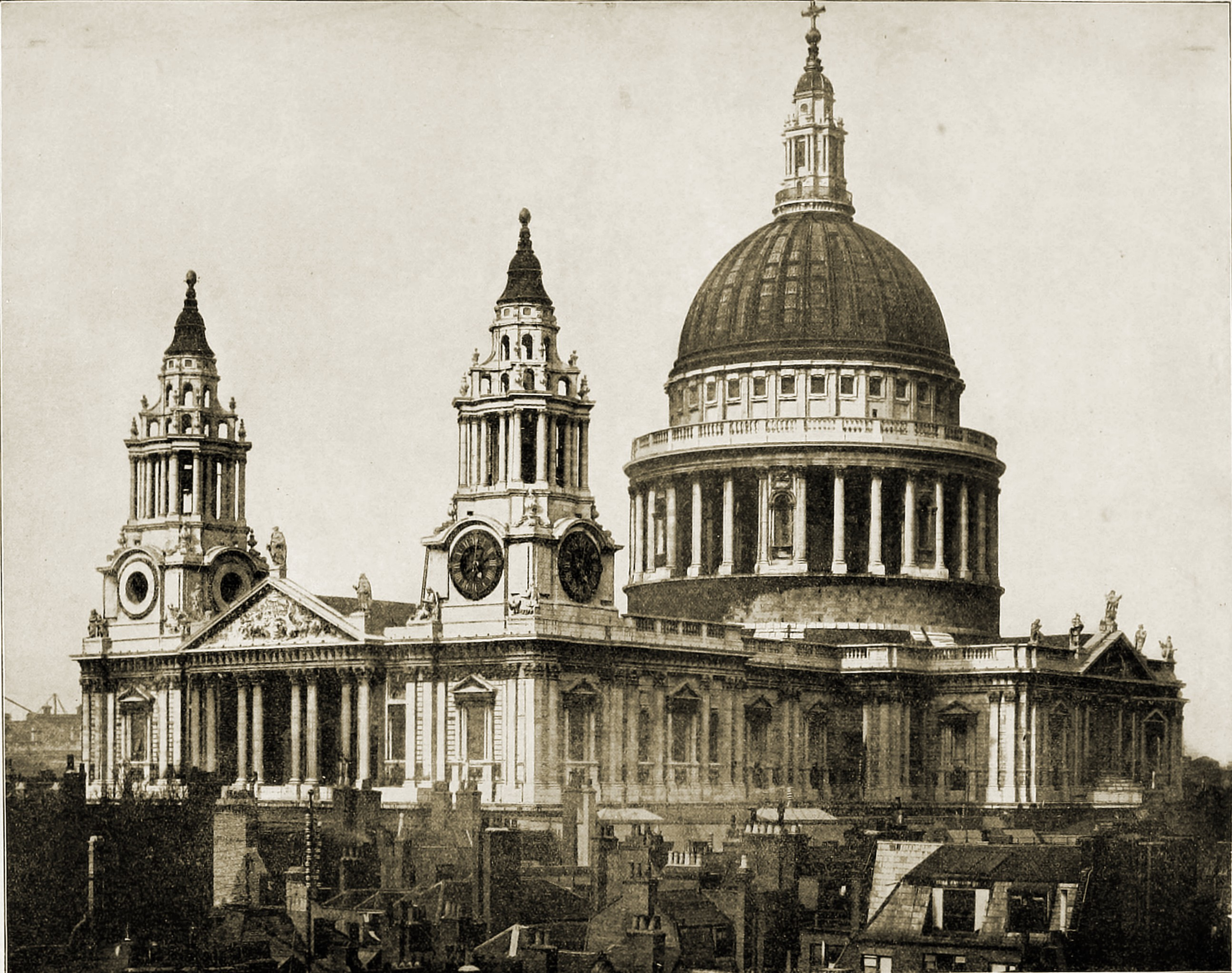 St. Paul's Cathedral London England about 1892