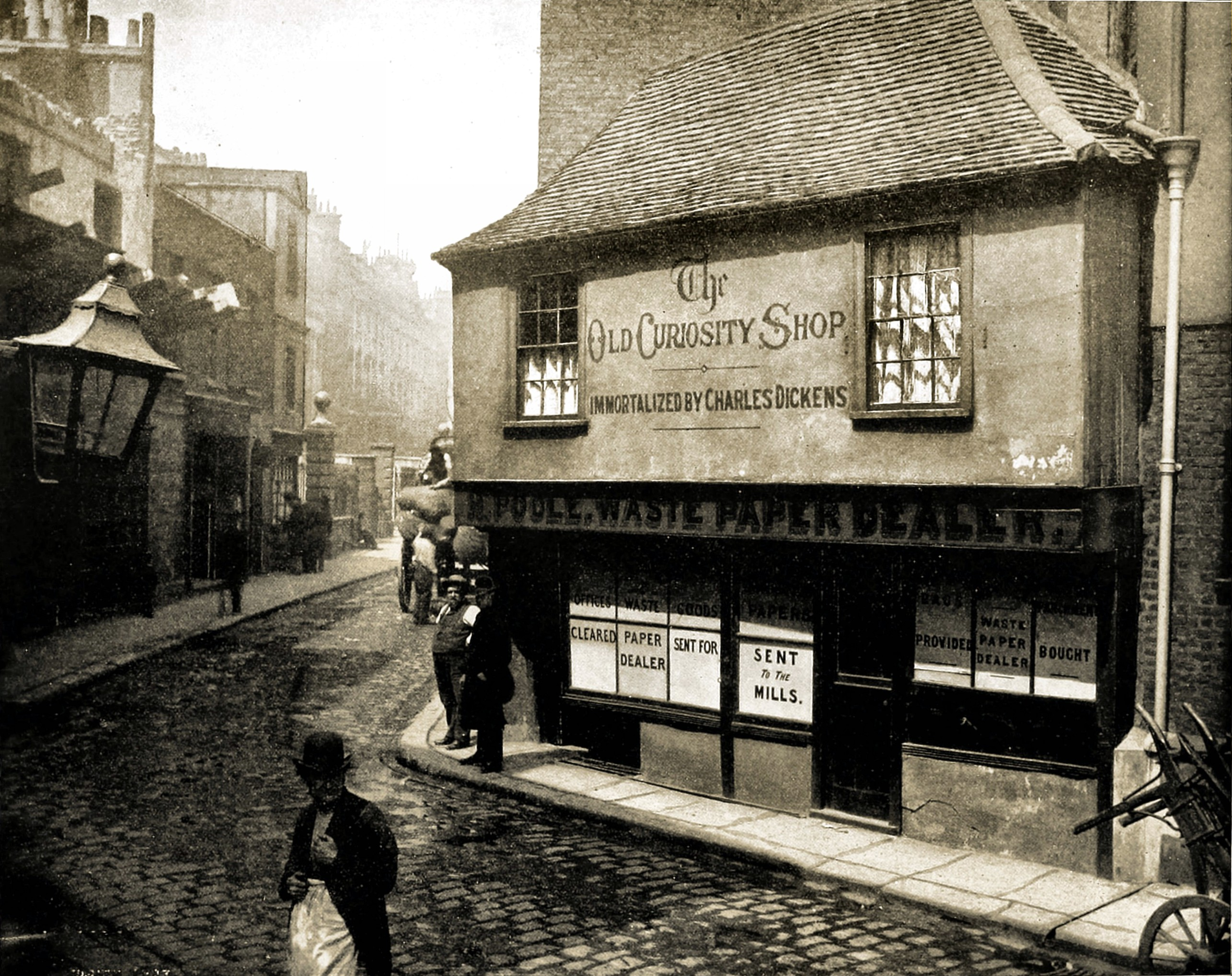 The Old Curiosity Shop, London, England about 1892