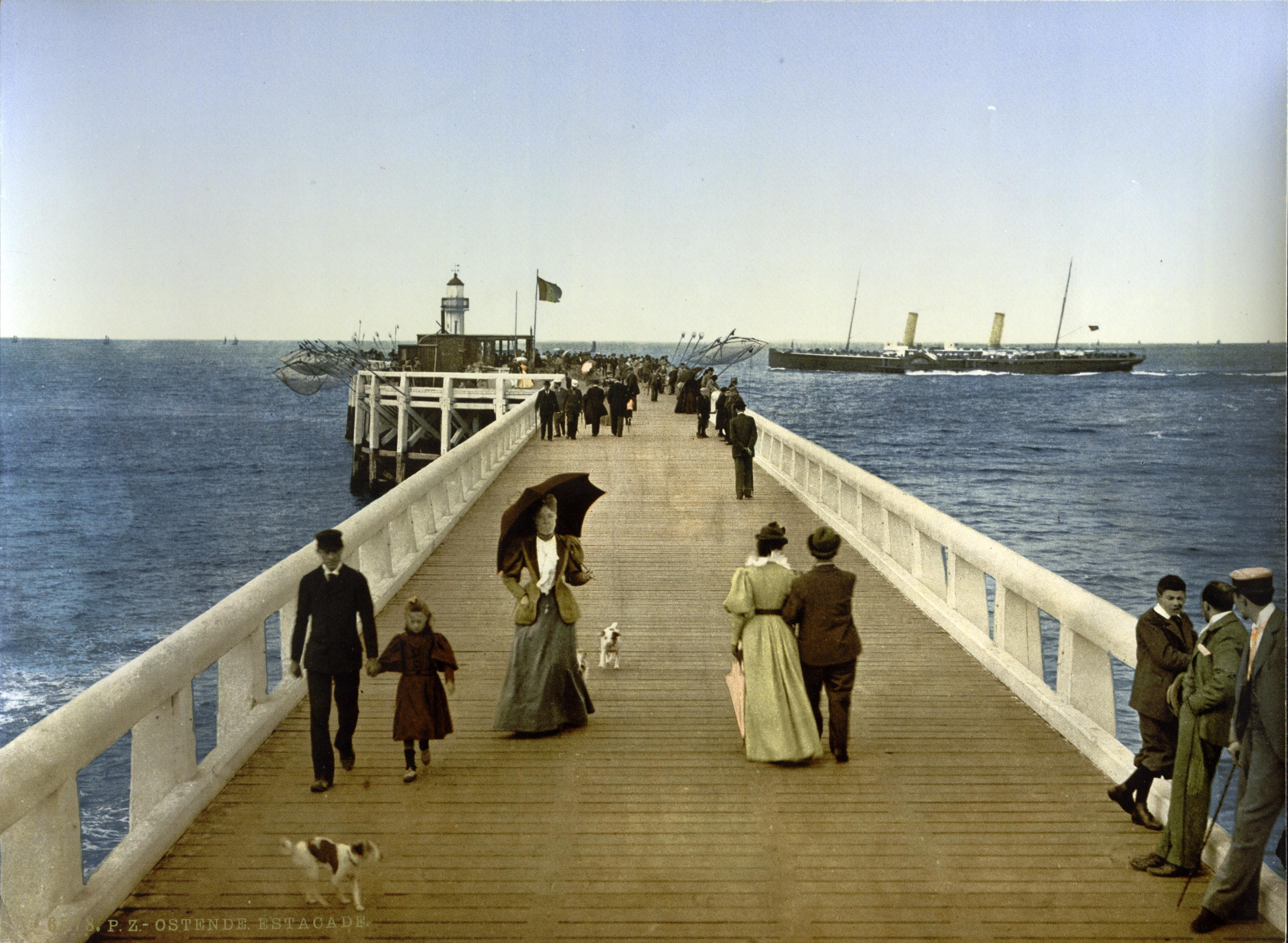 The Pier Ostend Belgium about 1895