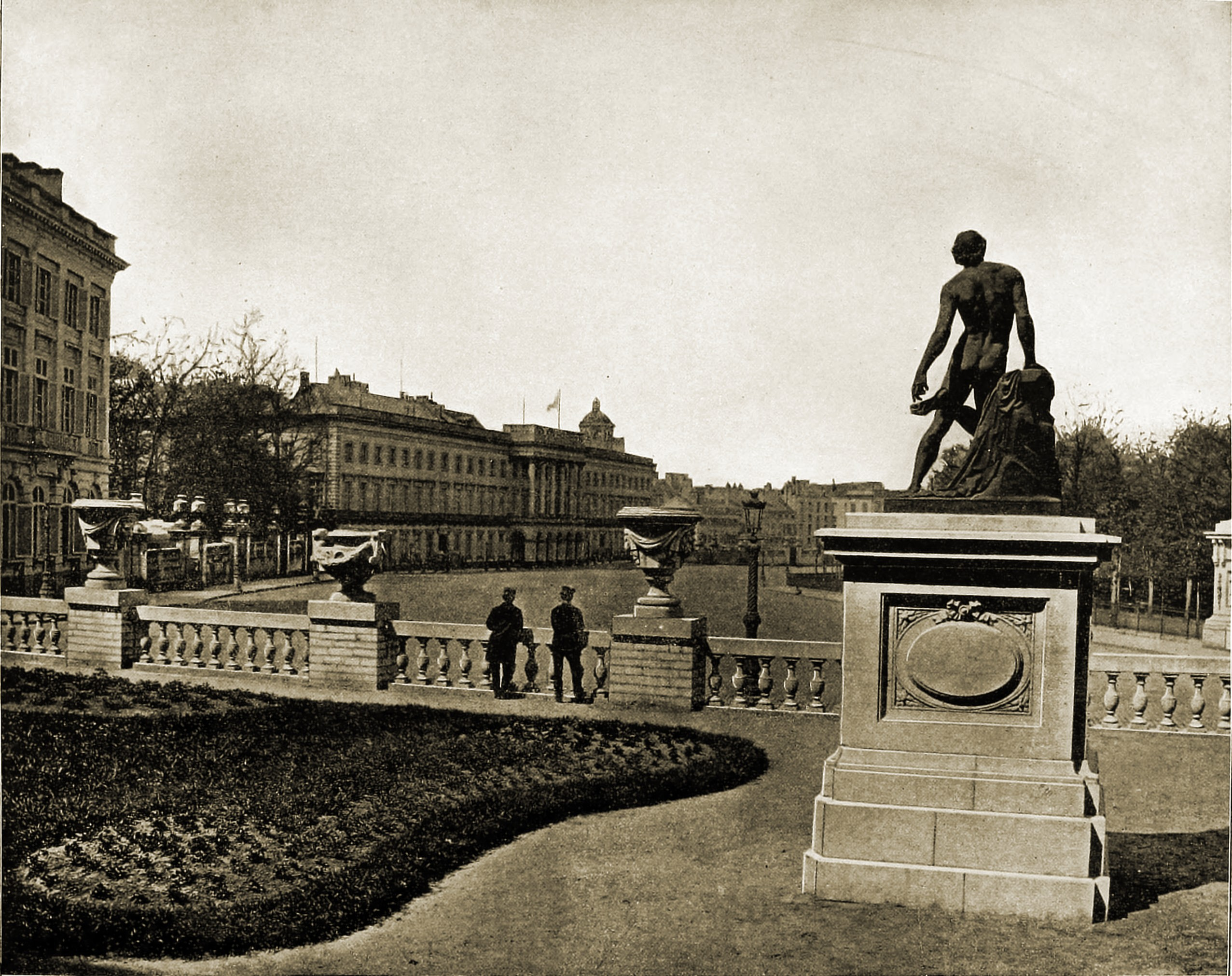 The Royal Palace Brussels Belgium about 1892