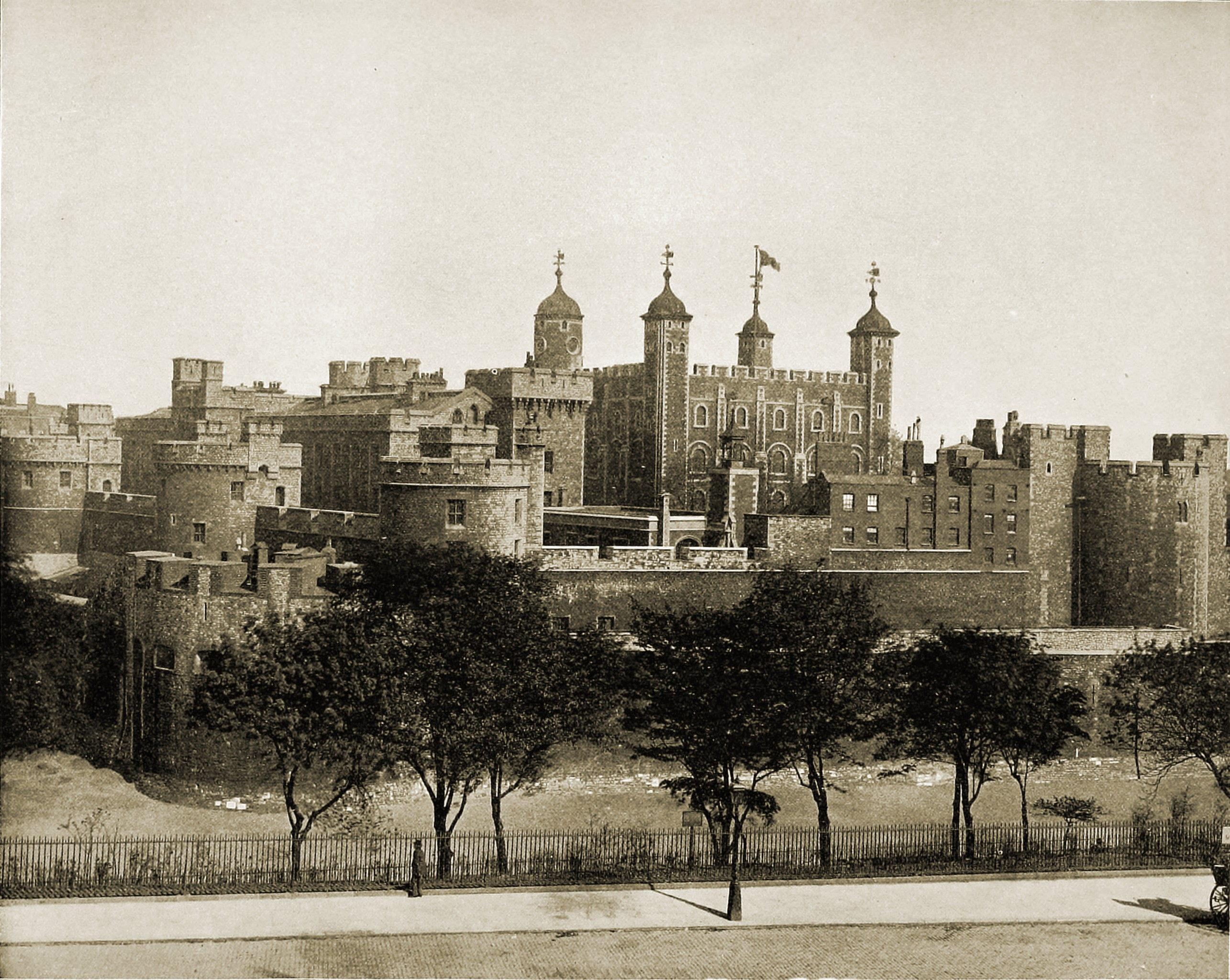 Tower of London England about 1892