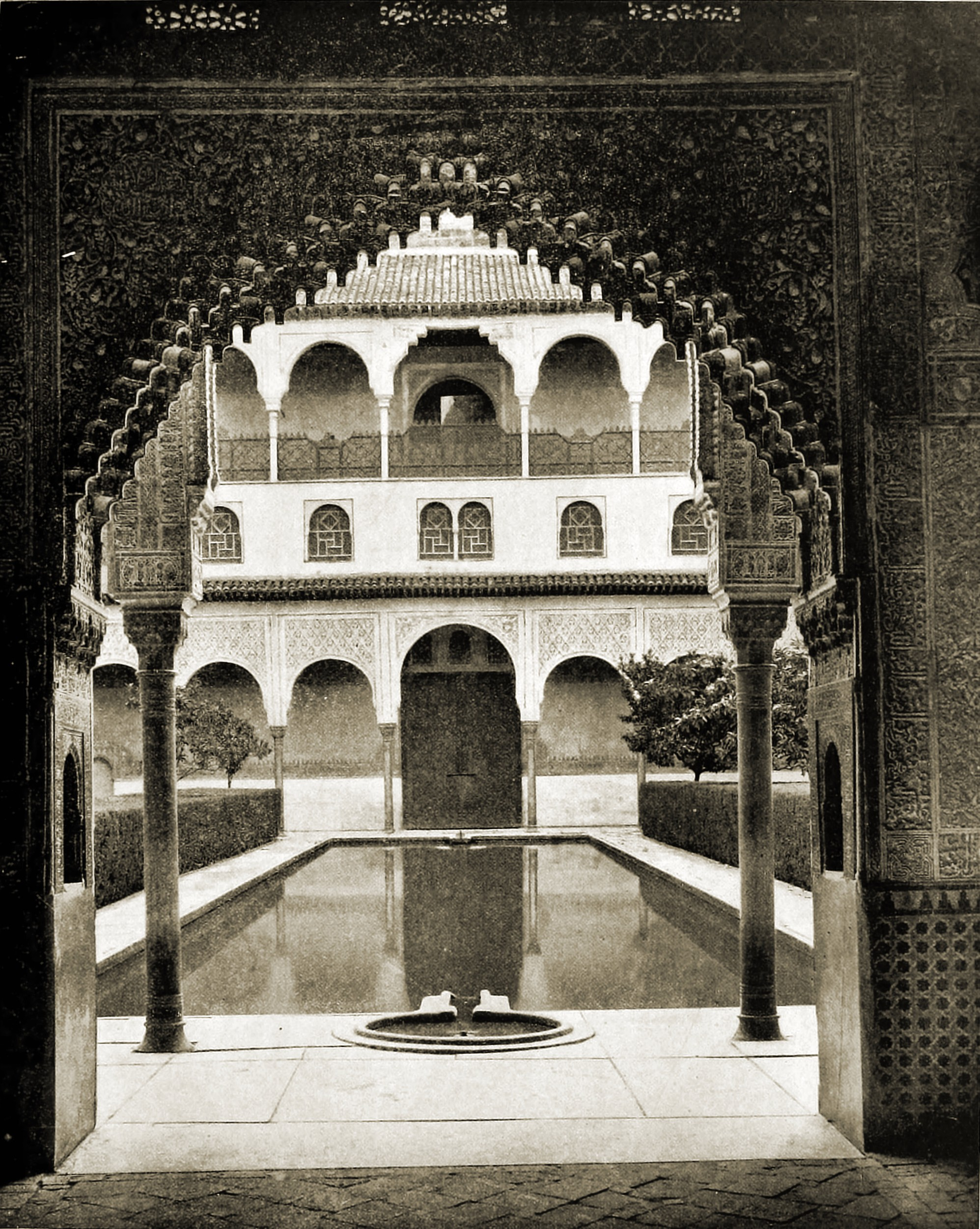 Myrtles Court Alhambra Granada Spain 1892