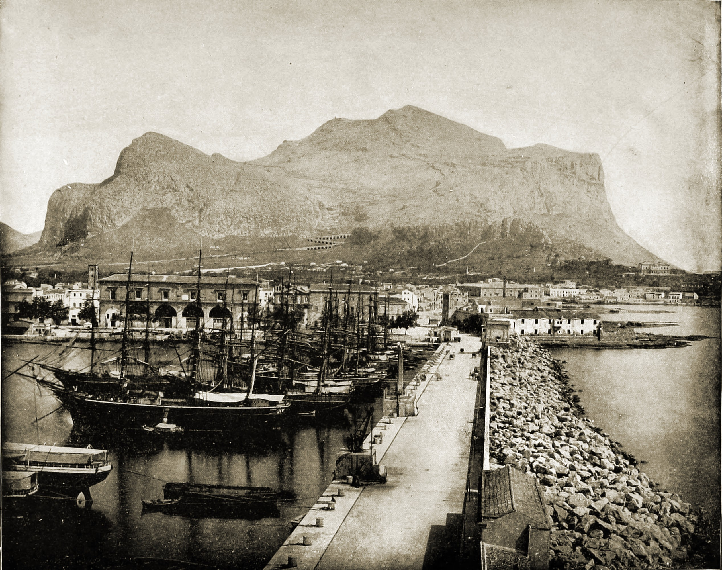 Palermo and Monte Pellegrino Italy about 1892