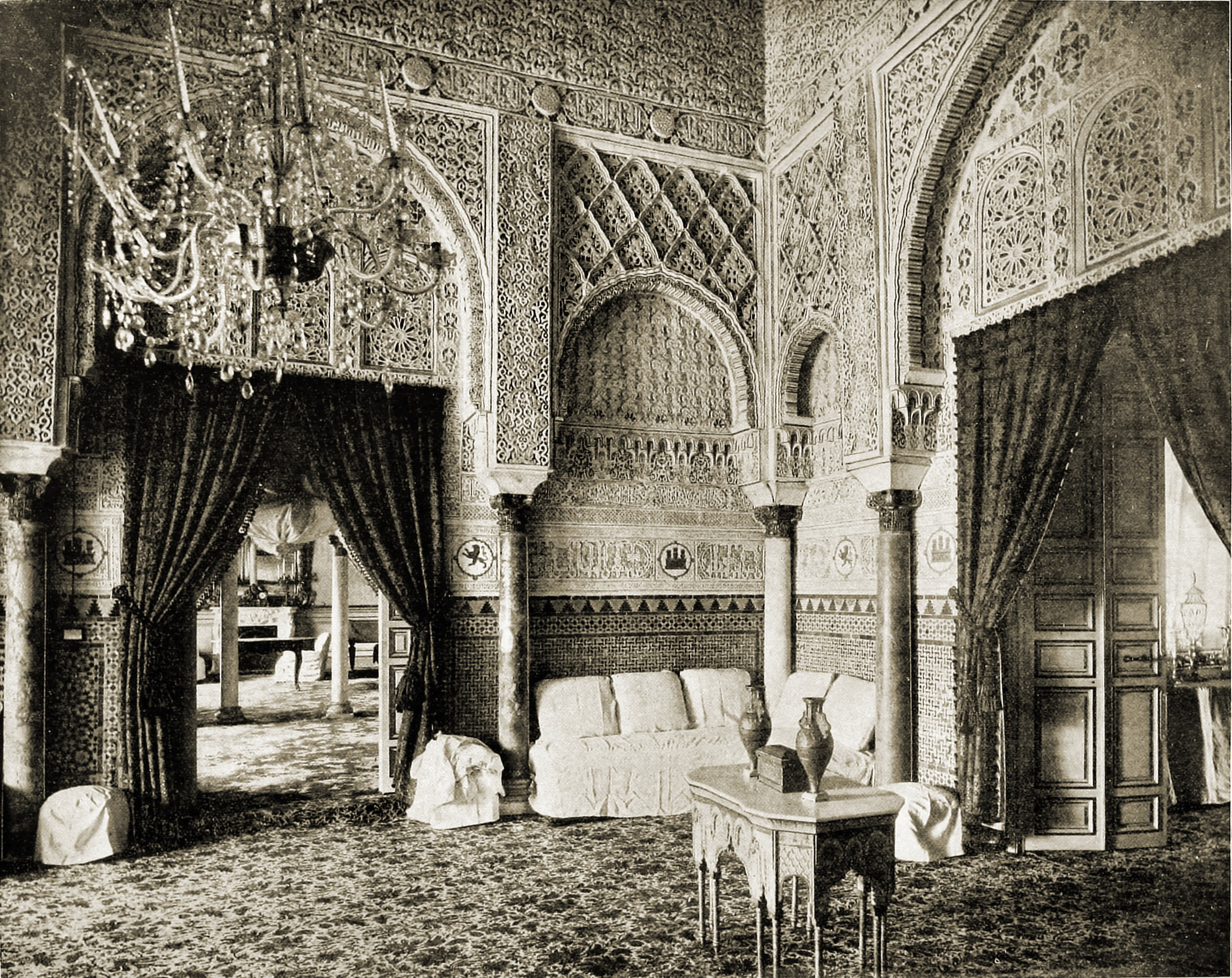 Salon of Maria de Padilla Alcazar Seville Spain about 1892